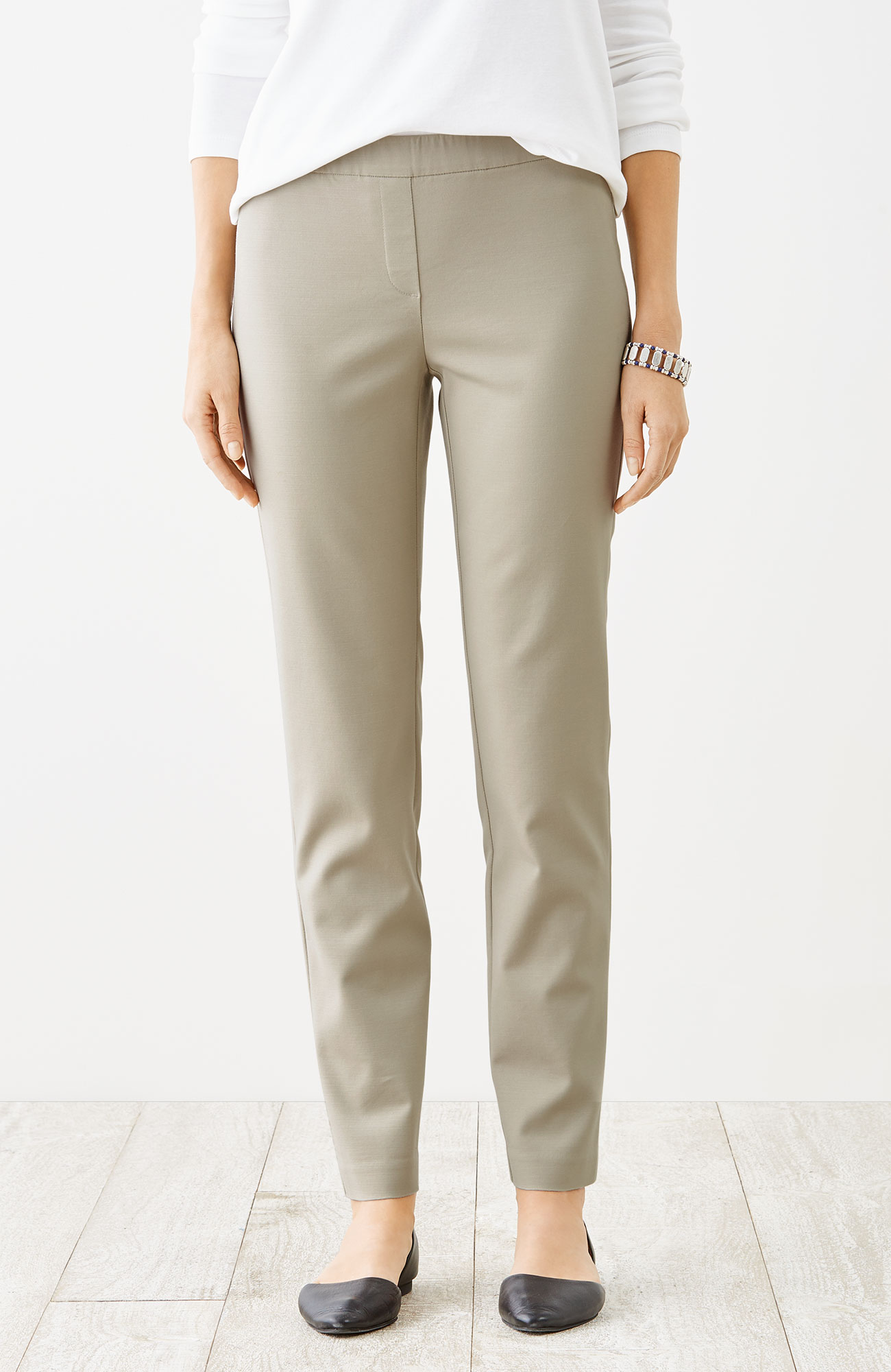 essential cotton-stretch pants