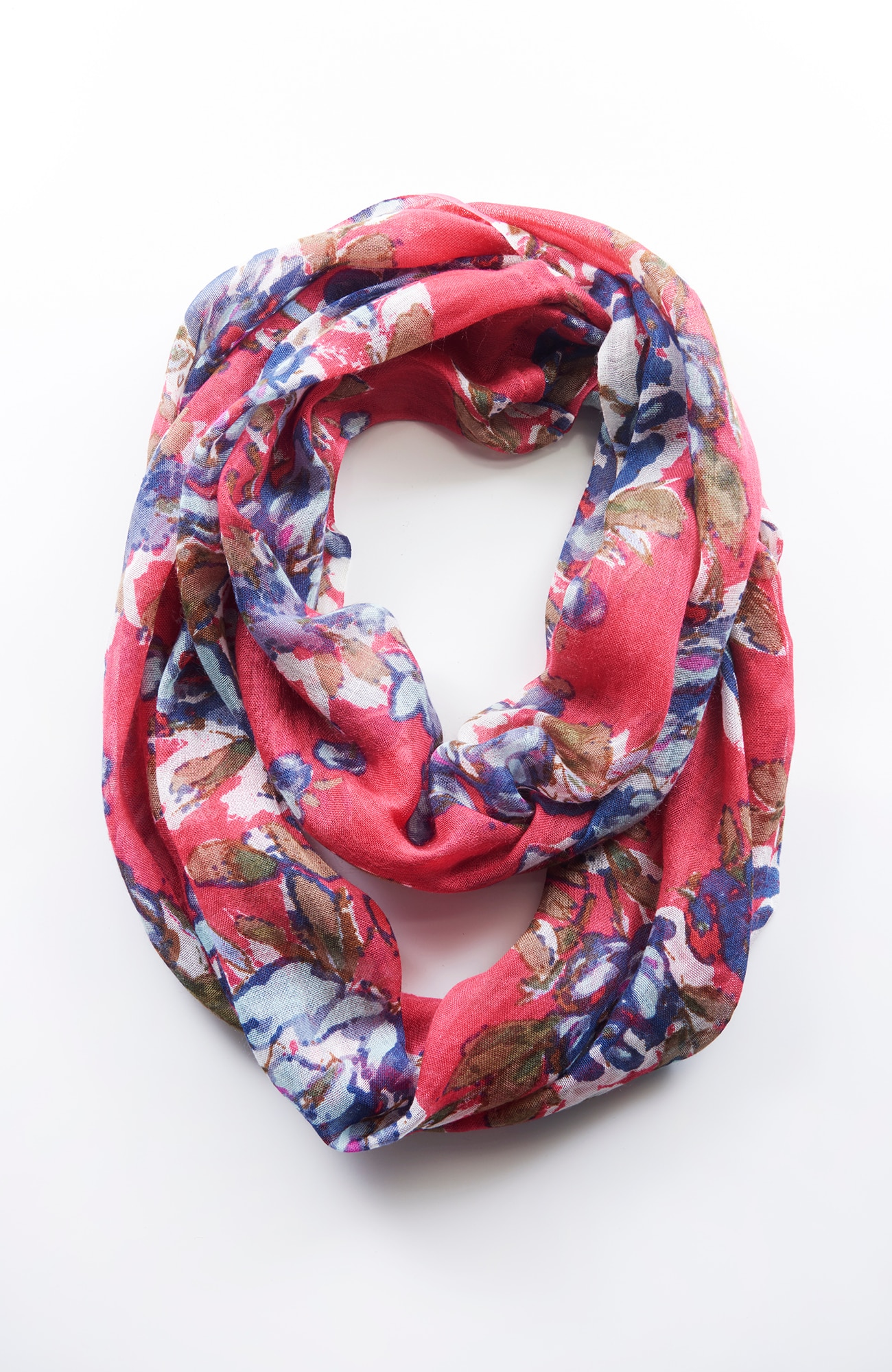 watercolor bouquet infinity scarf