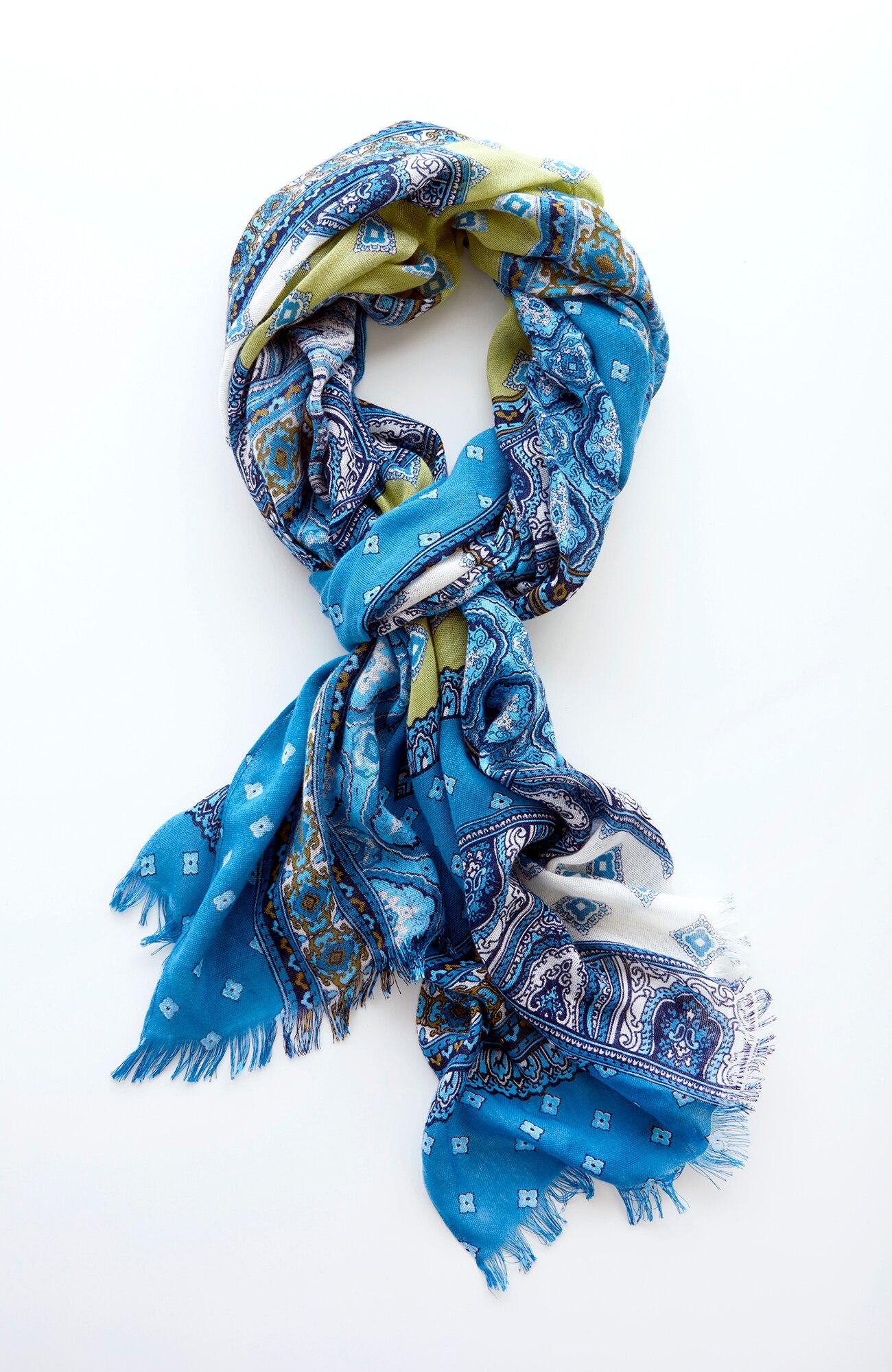 patchwork geometric scarf