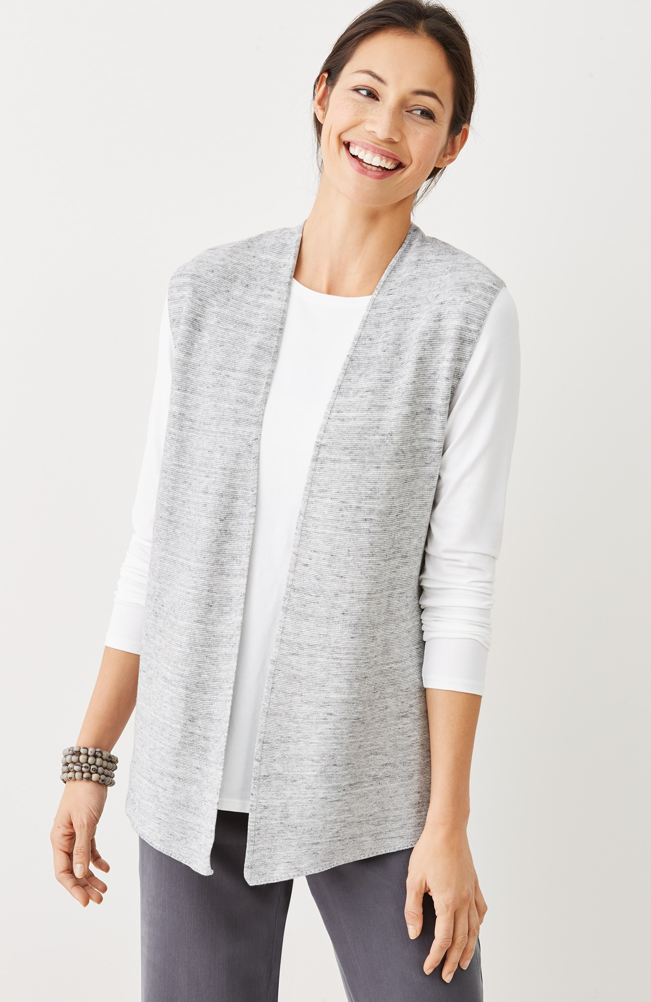 Pure Jill textured sweater vest
