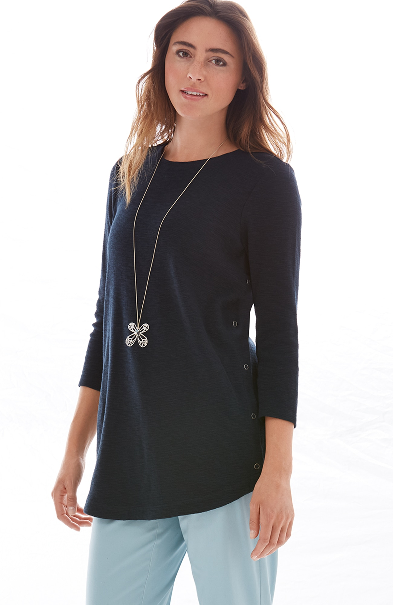 side-snap tunic