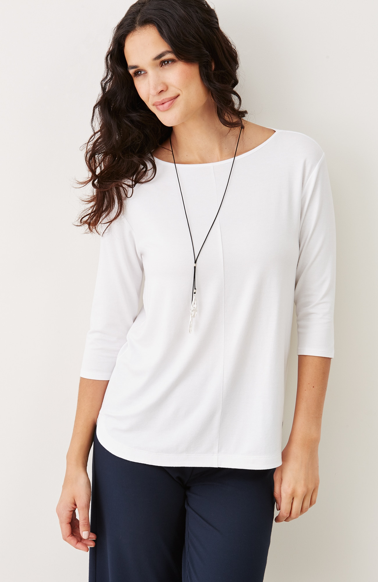 Wearever boat-neck top