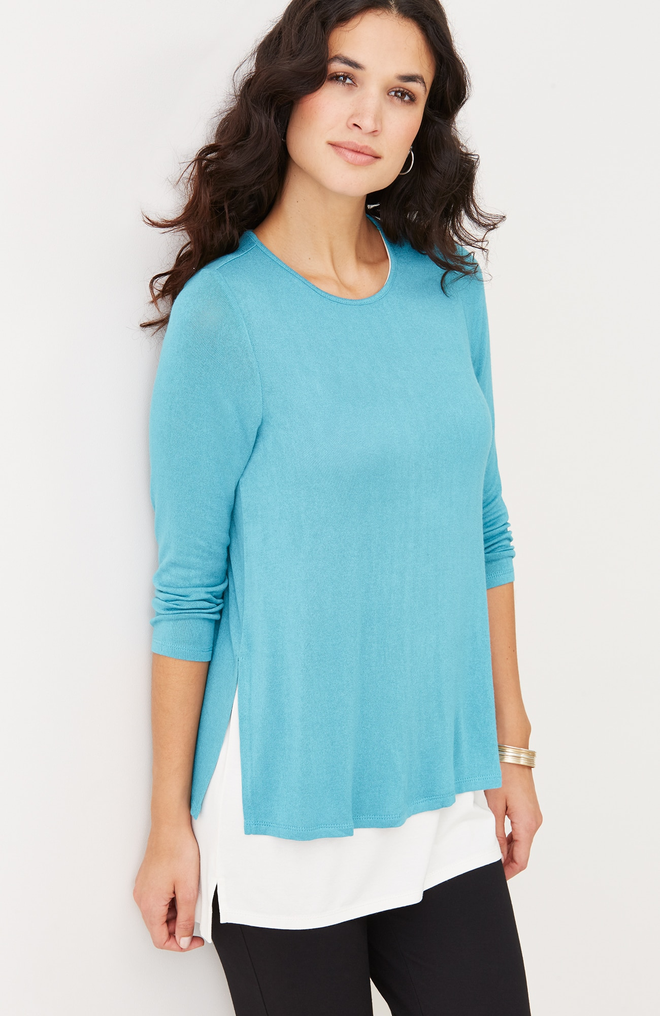 Wearever lightweight 3/4-sleeve top