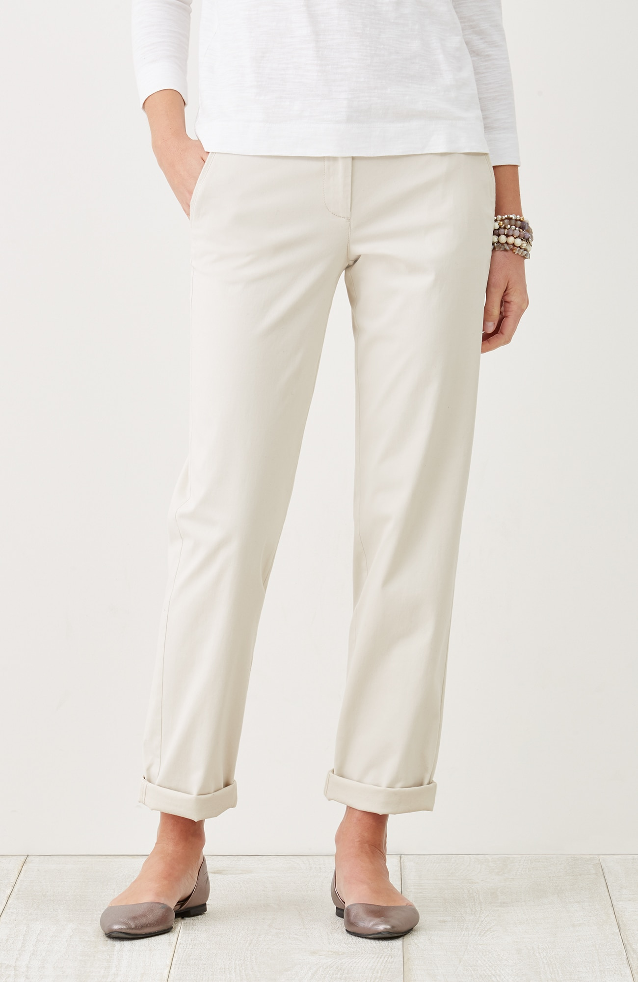 live-in chino slim boyfriend pants
