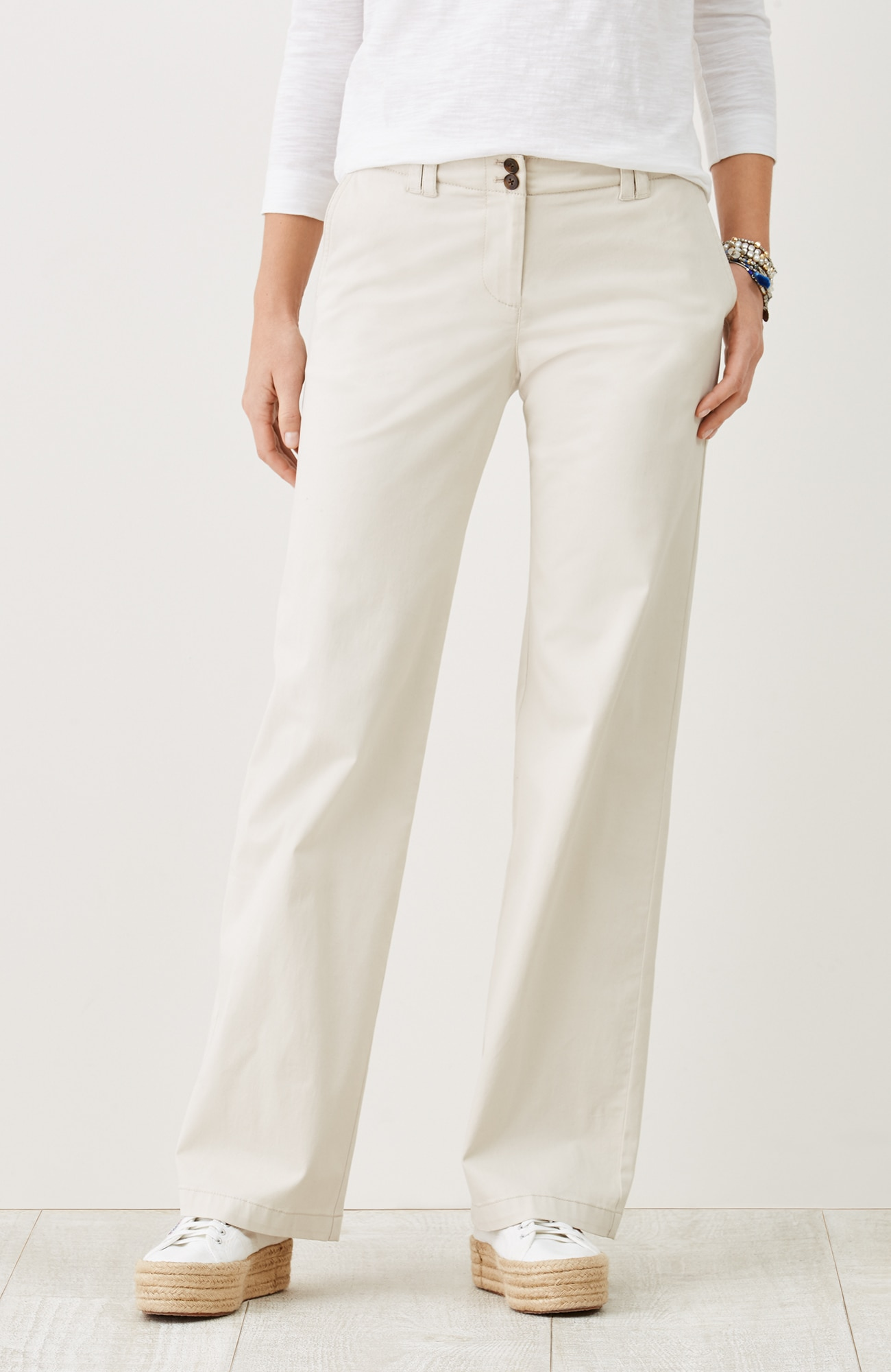 live-in chino full-leg pants