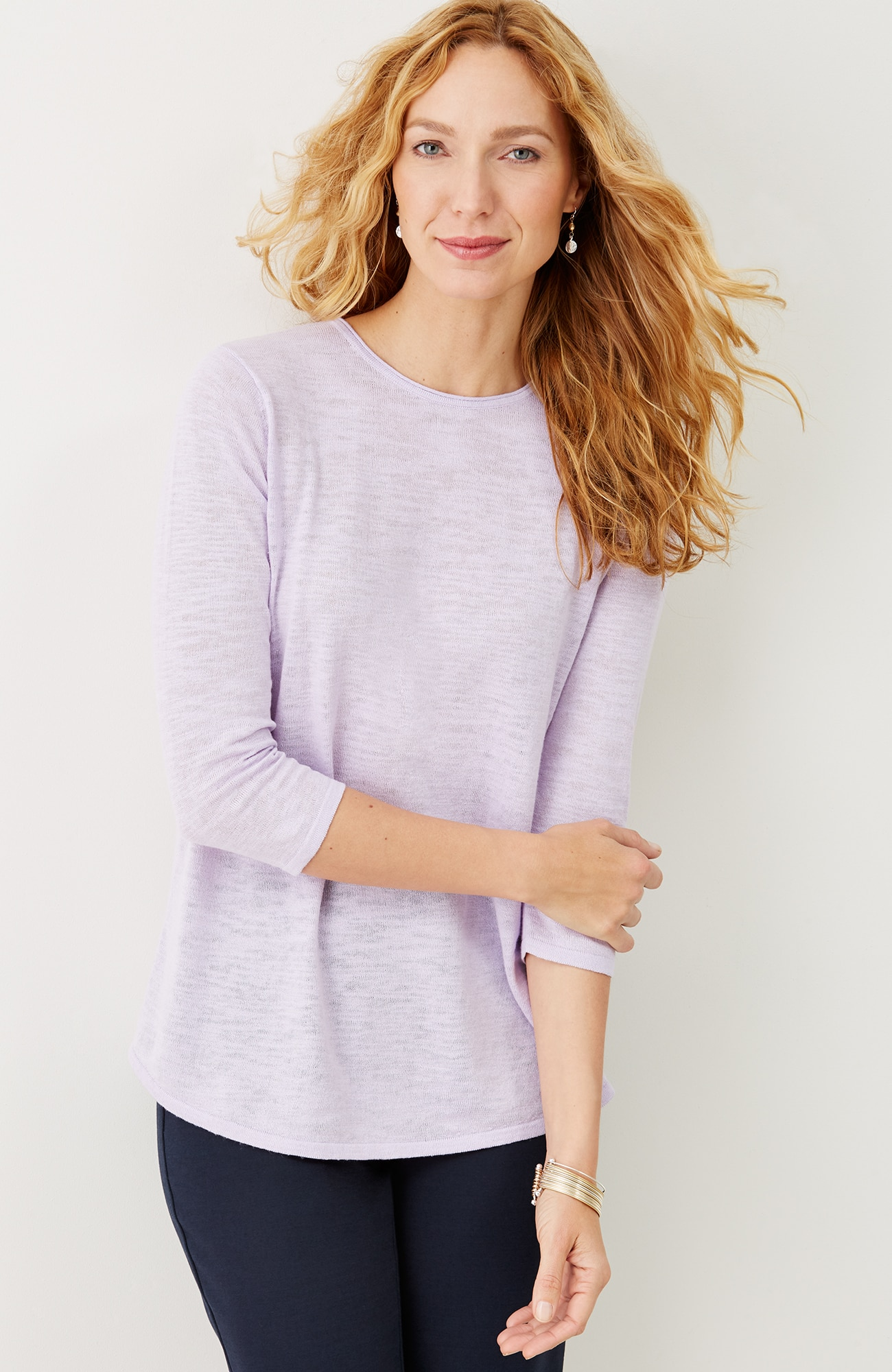 breezy linen & cotton pullover