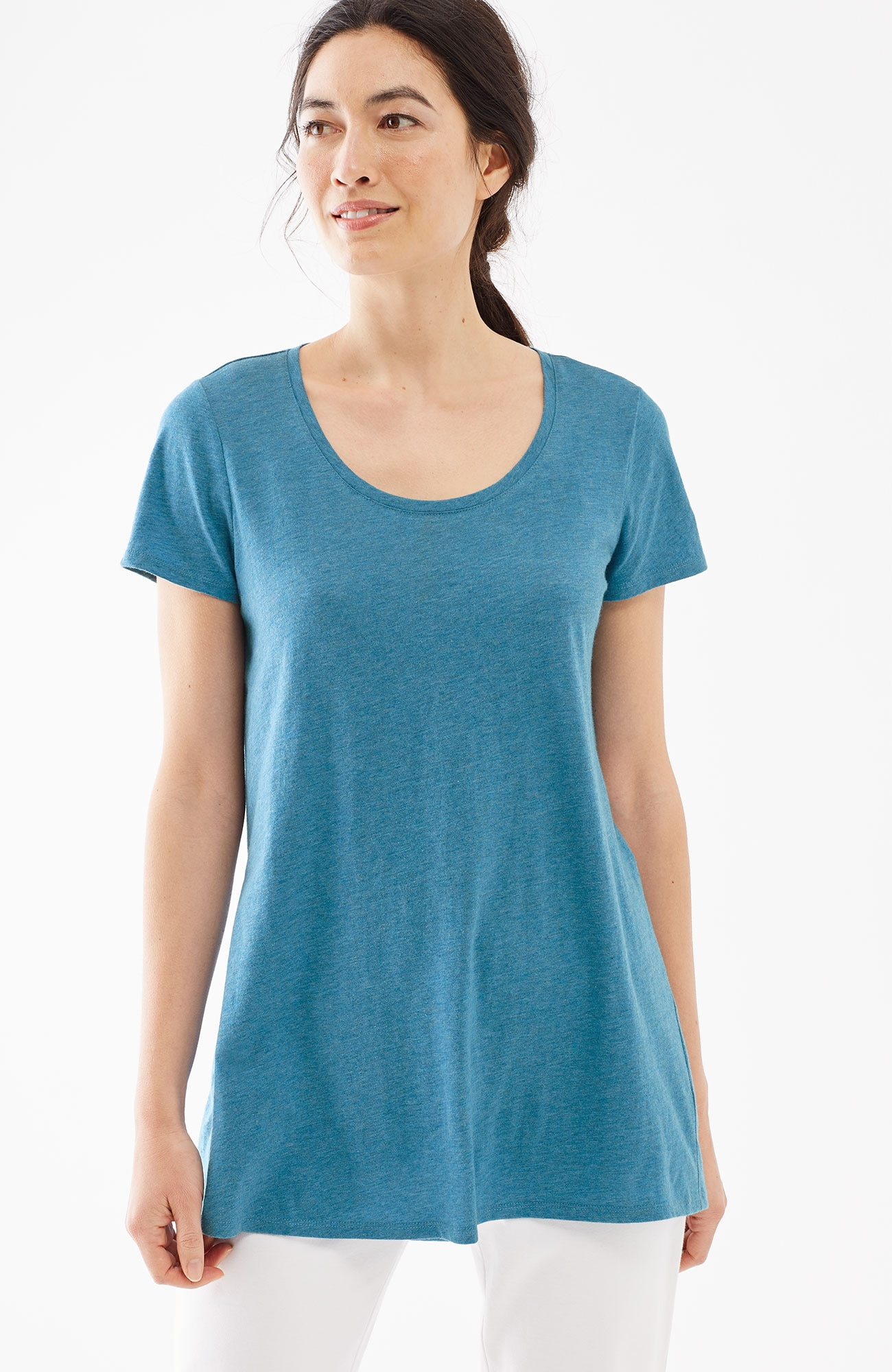 Pure Jill scoop-neck elliptical tee