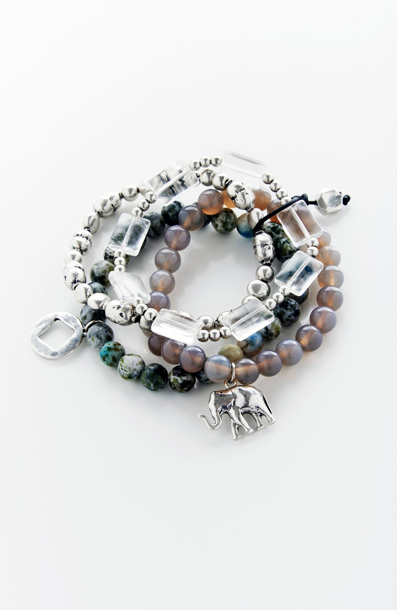 elephant charm bracelet stack