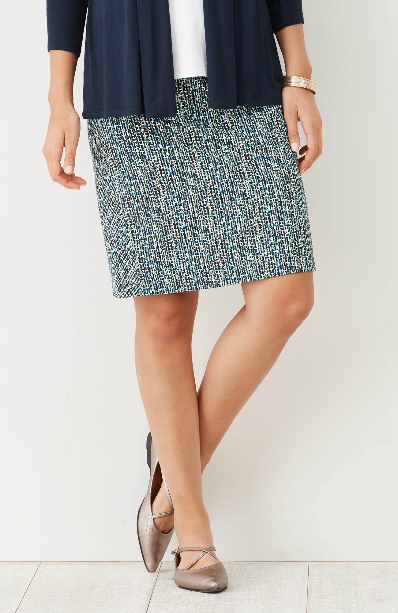 Wearever Smooth-Fit print panel skirt