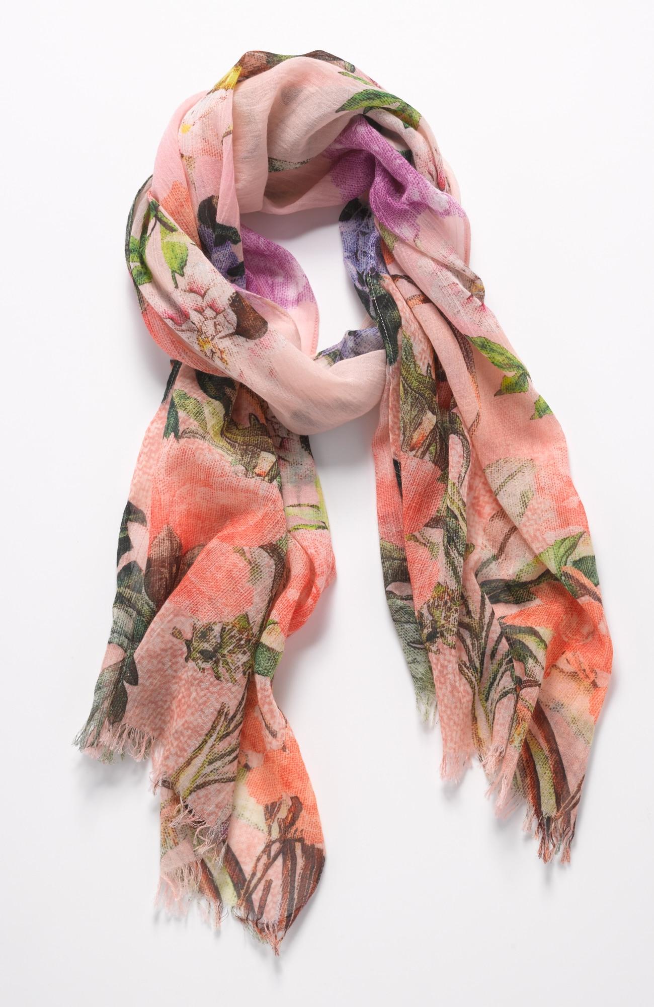 floral oasis crinkled scarf