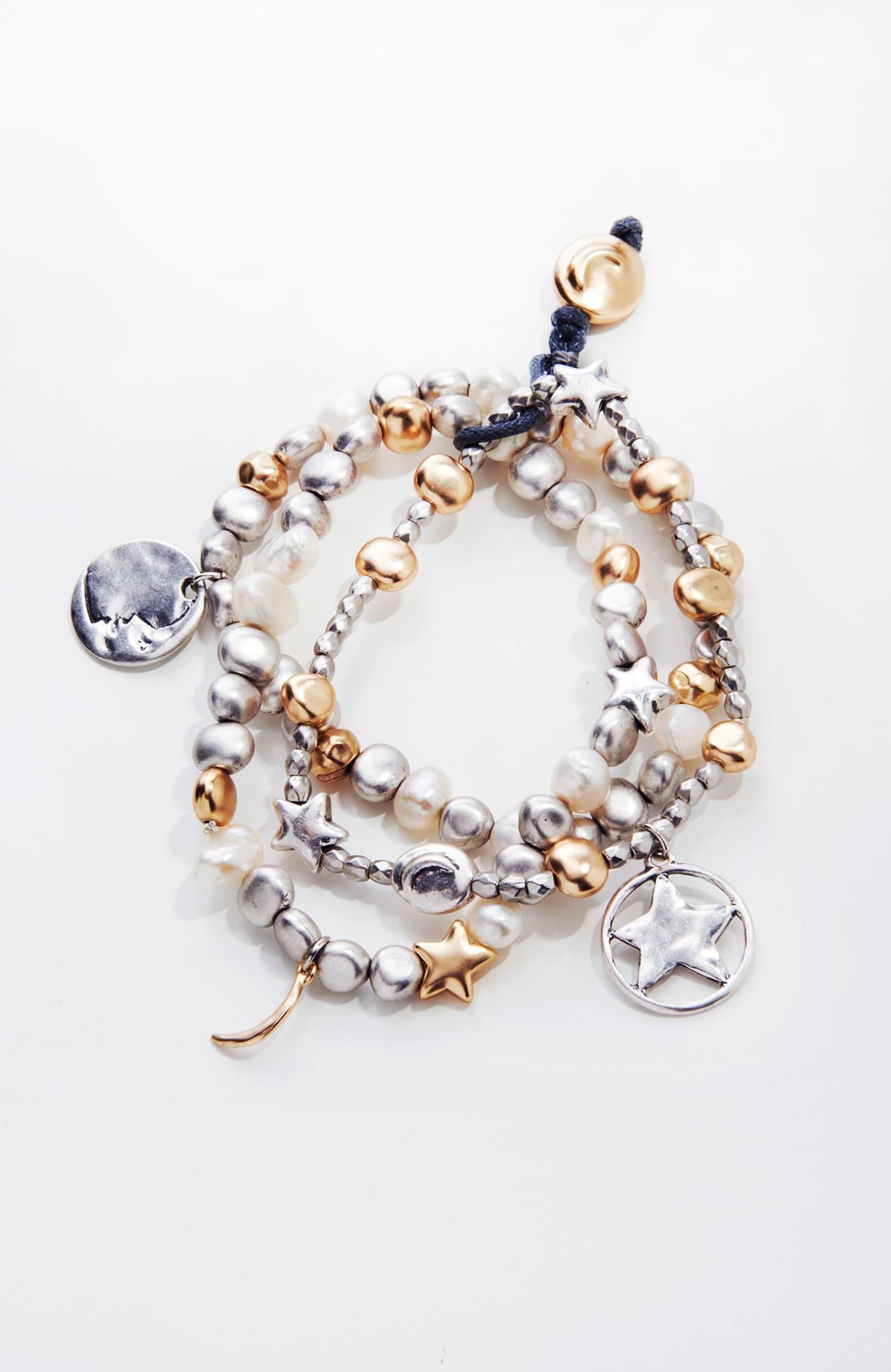 celestial charms bracelet stack