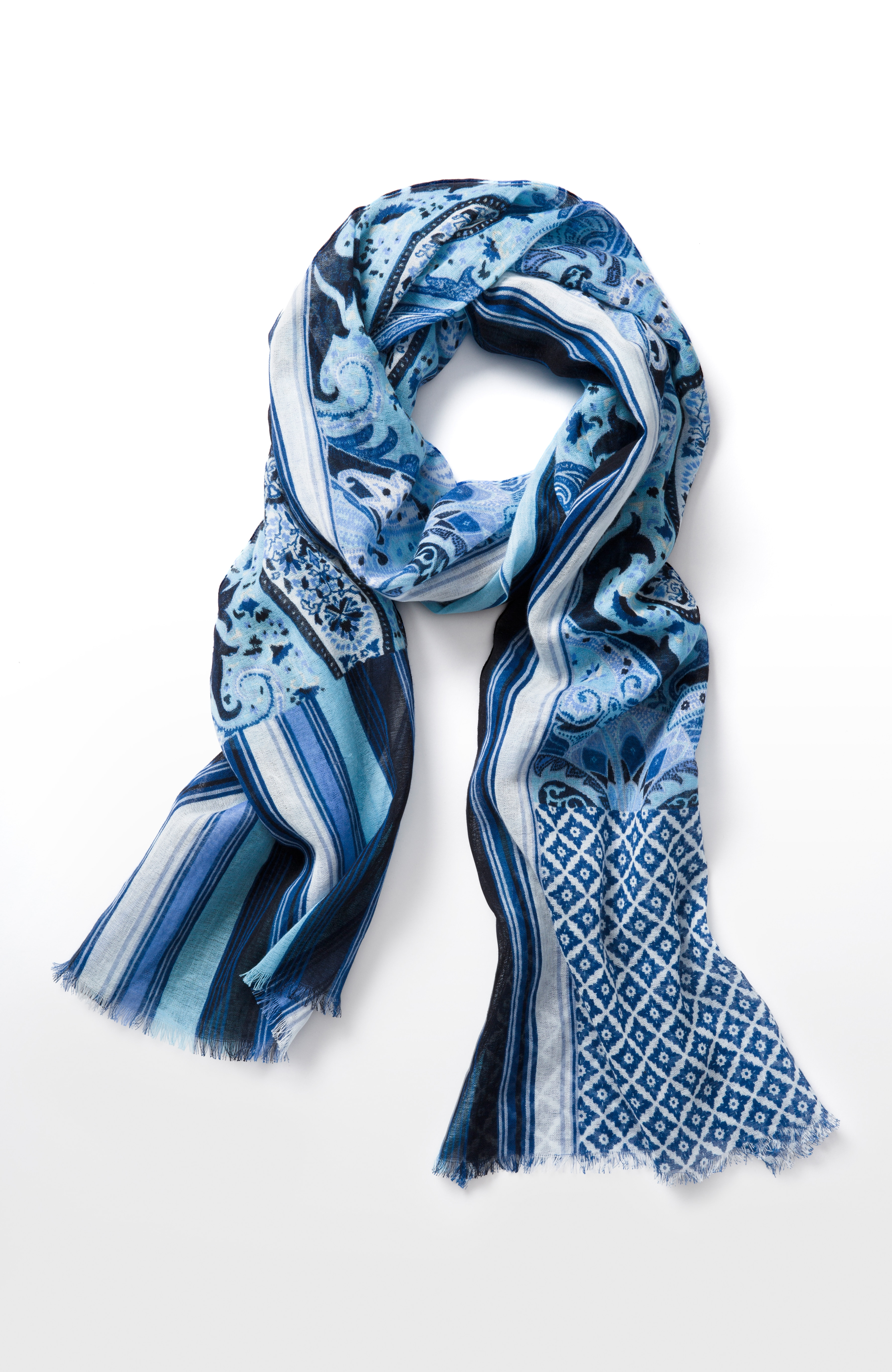 Portofino paisley scarf