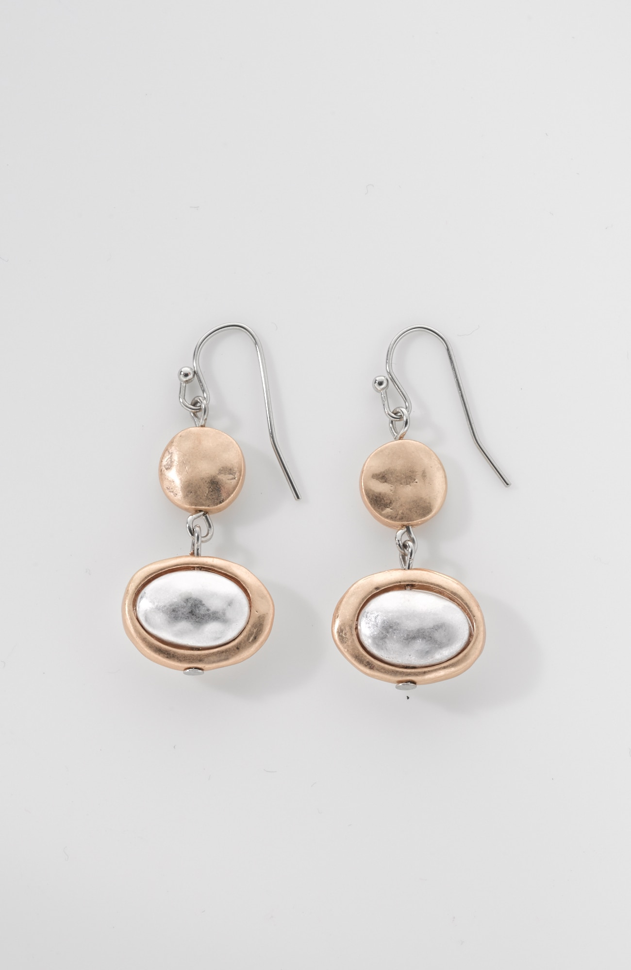 mixed-metal earrings