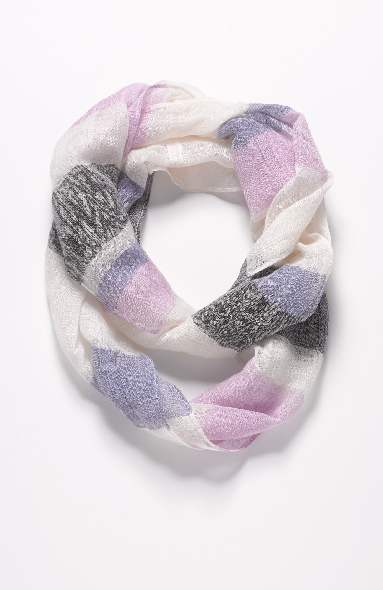 Pure Jill varied-stripes infinity scarf