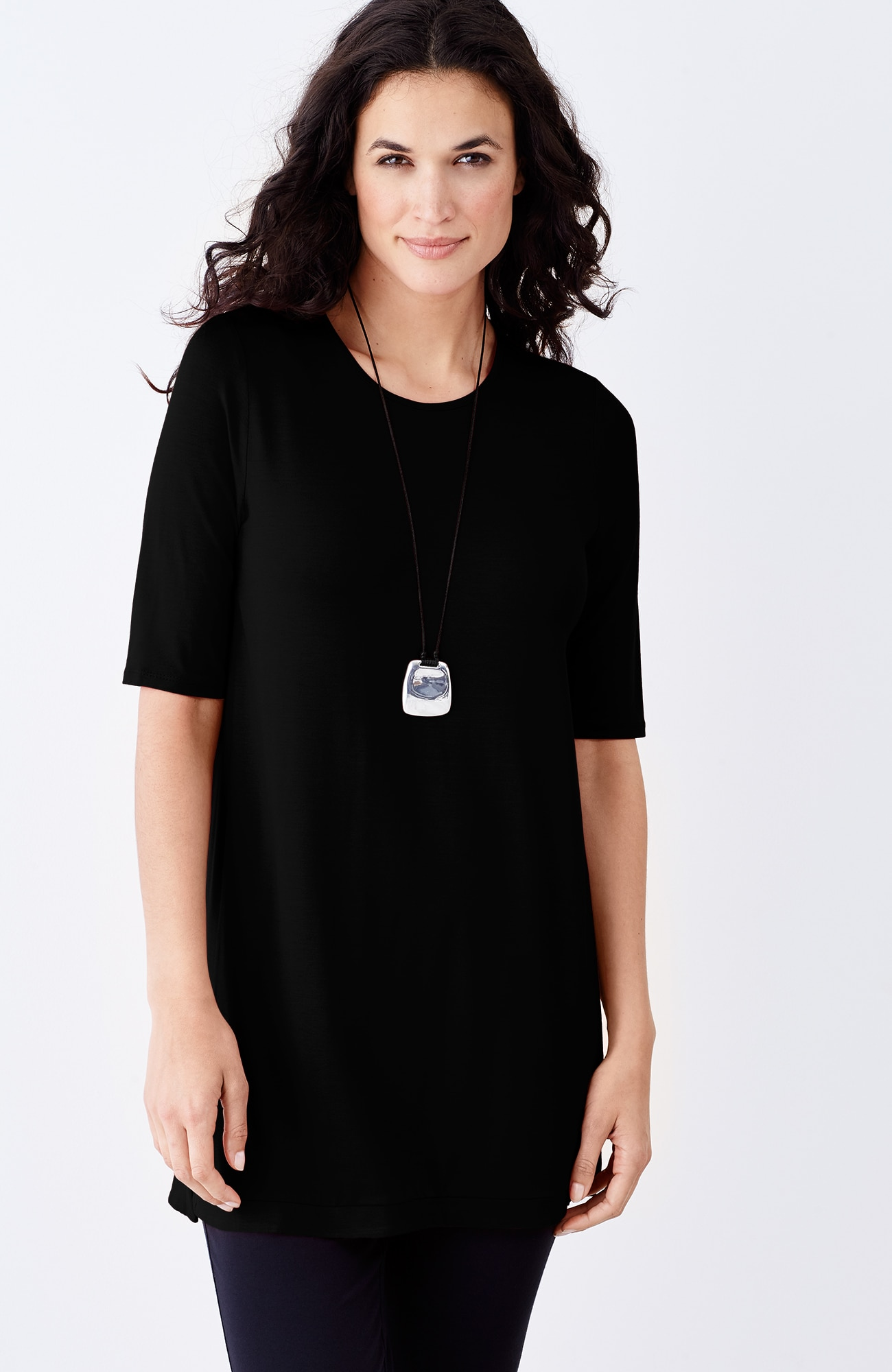 Wearever elbow-sleeve tunic