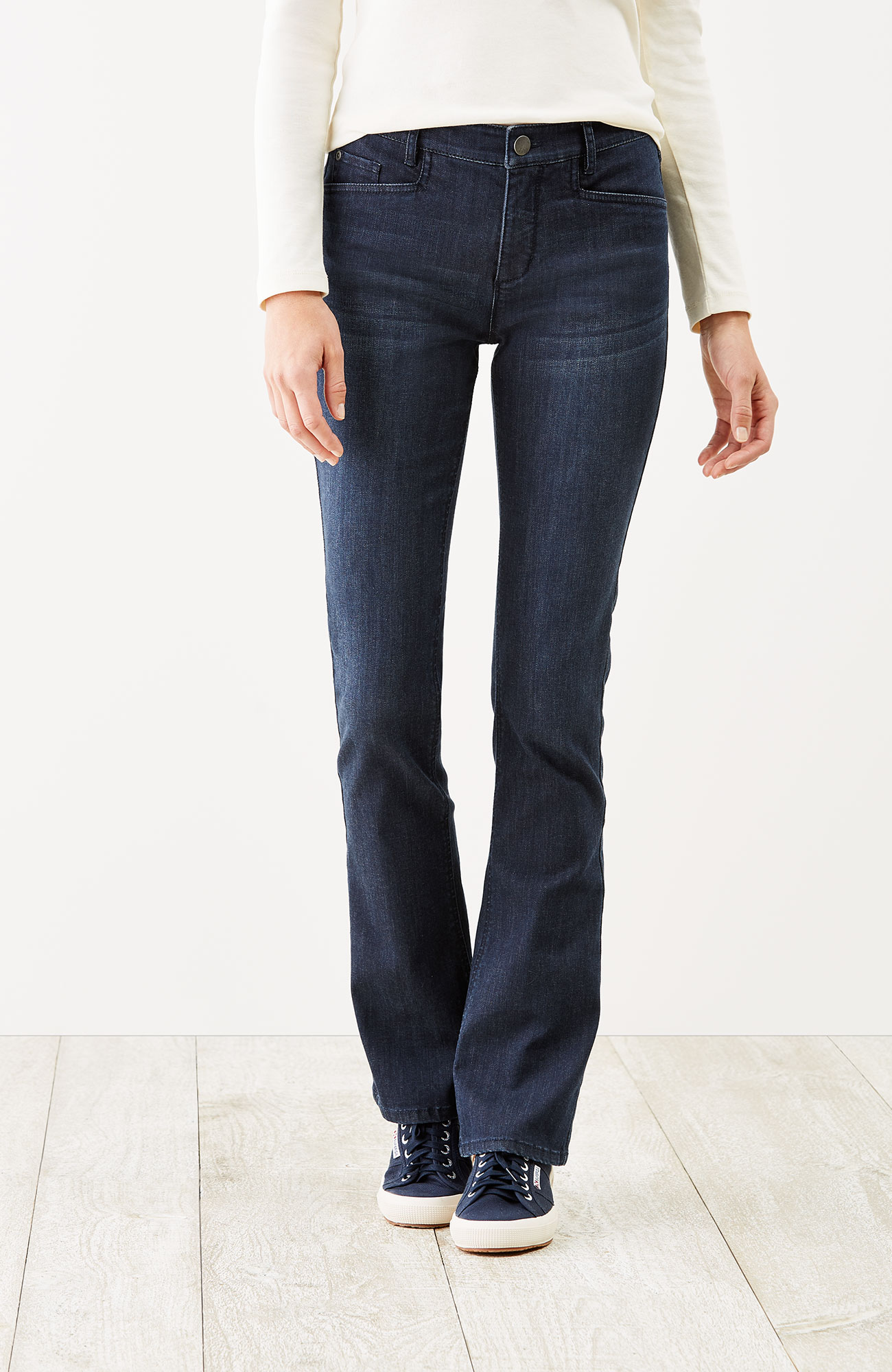 Smooth-Fit barely boot-cut jeans