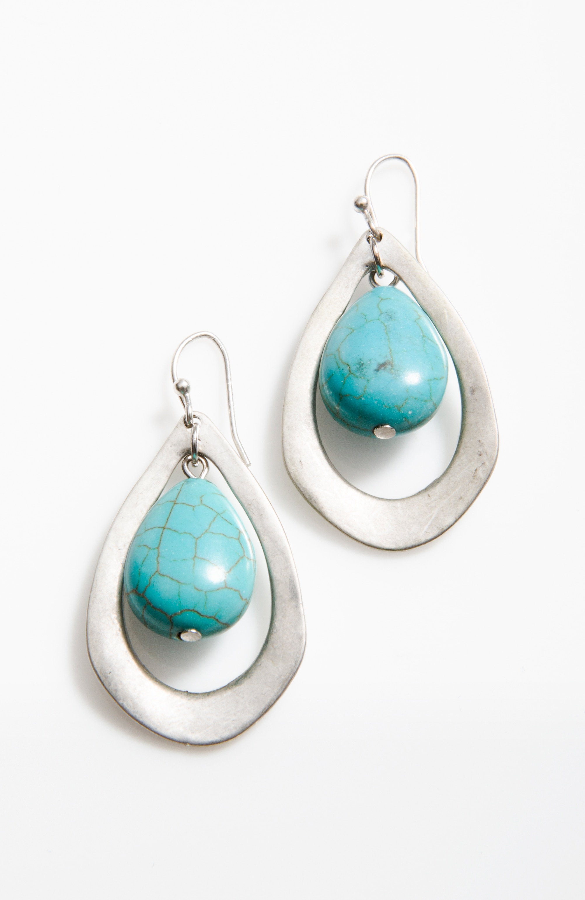 seacoast semiprecious teardrop earrings