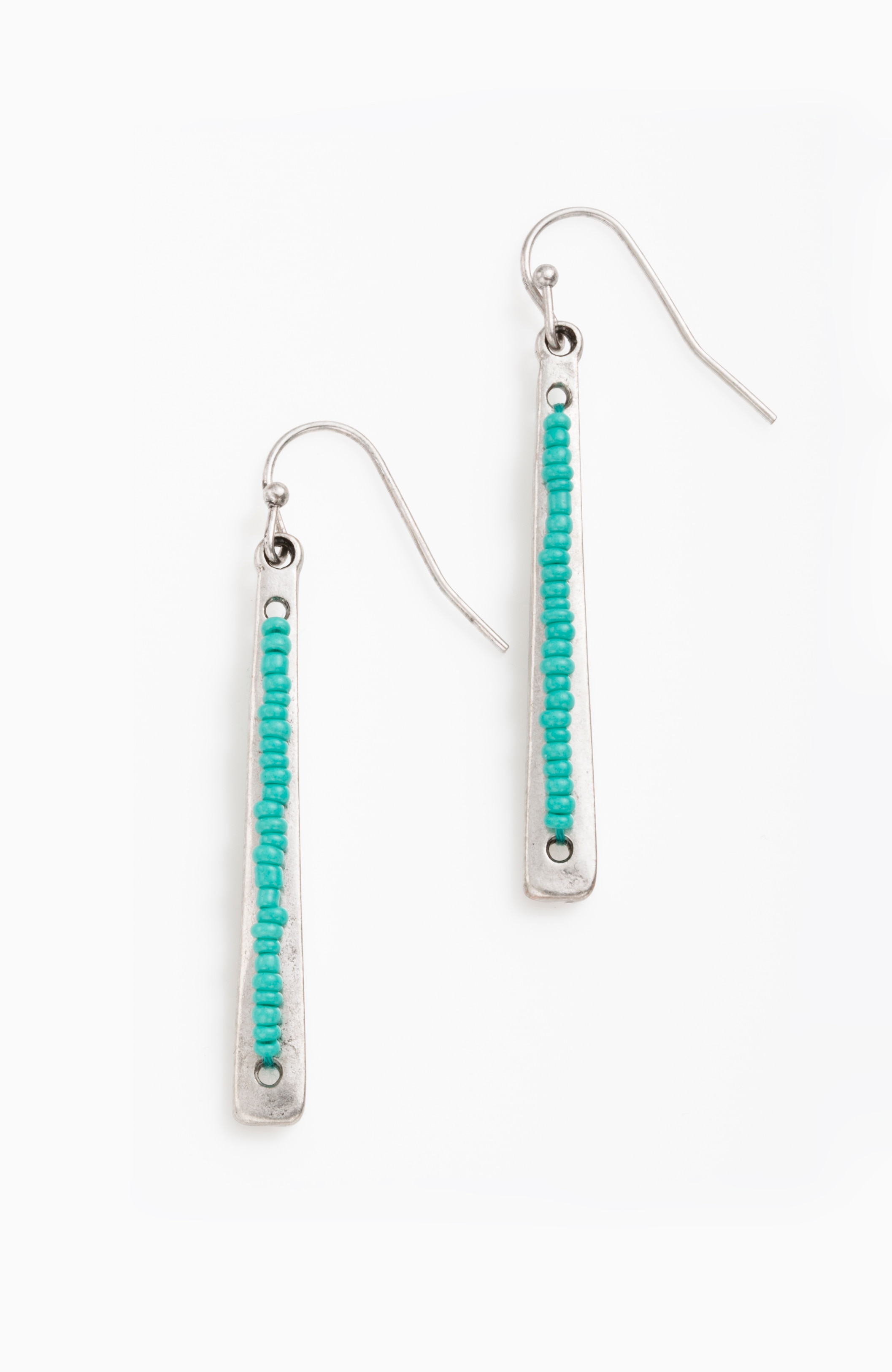 market beads drop earrings
