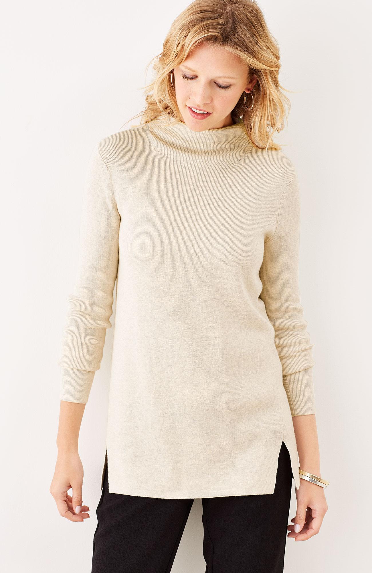 Mackenzie mock-neck pullover