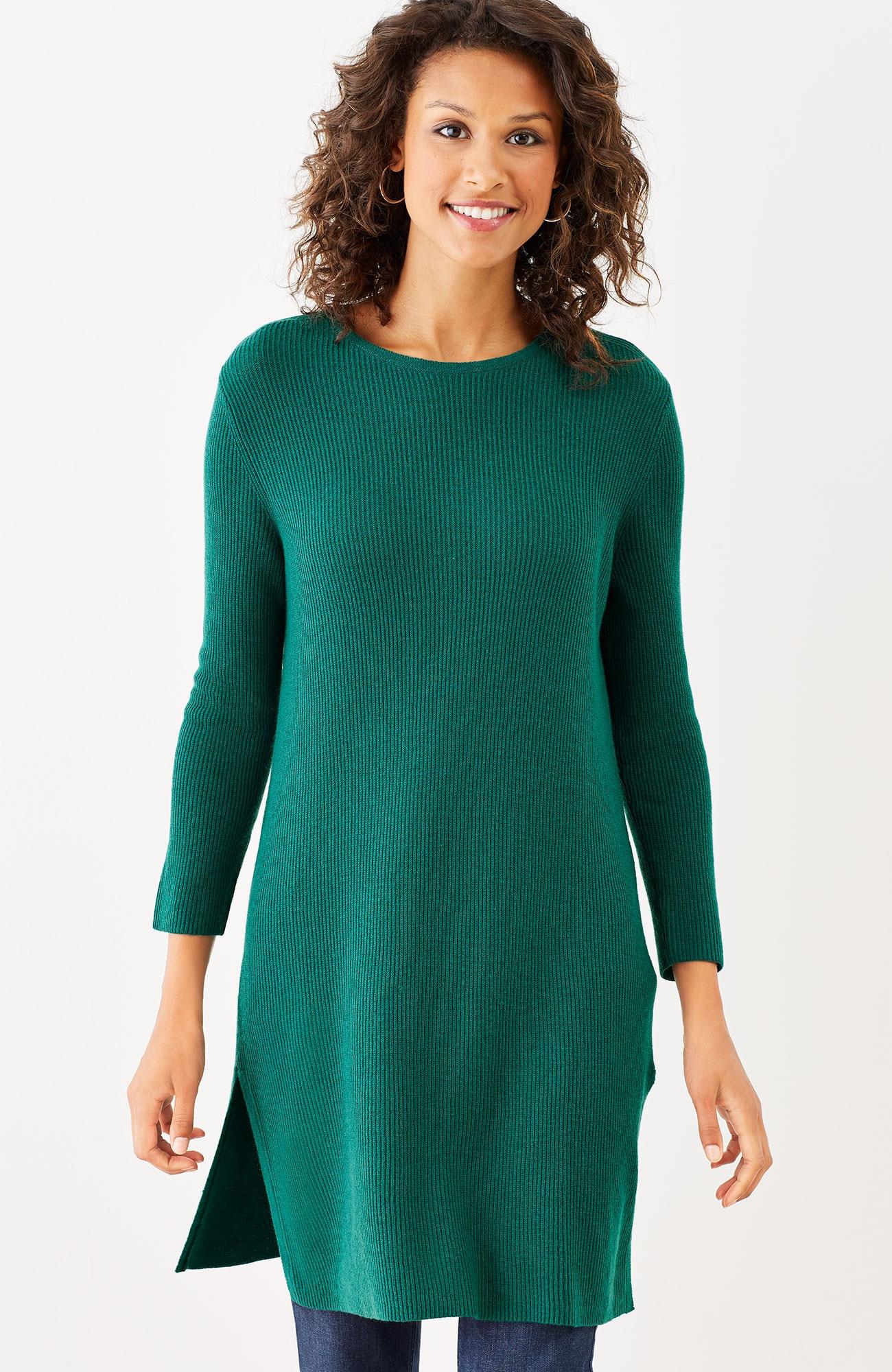 shaker-stitch tunic