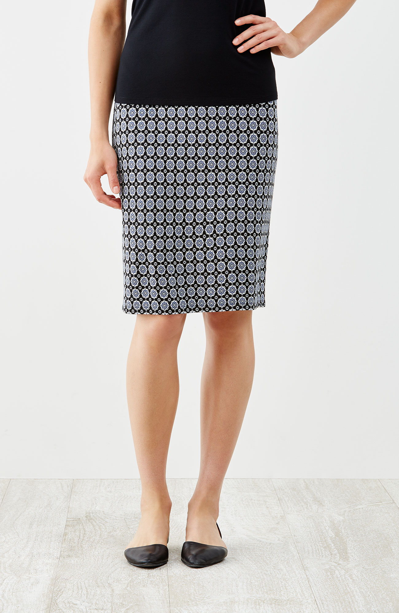Wearever jacquard pencil skirt