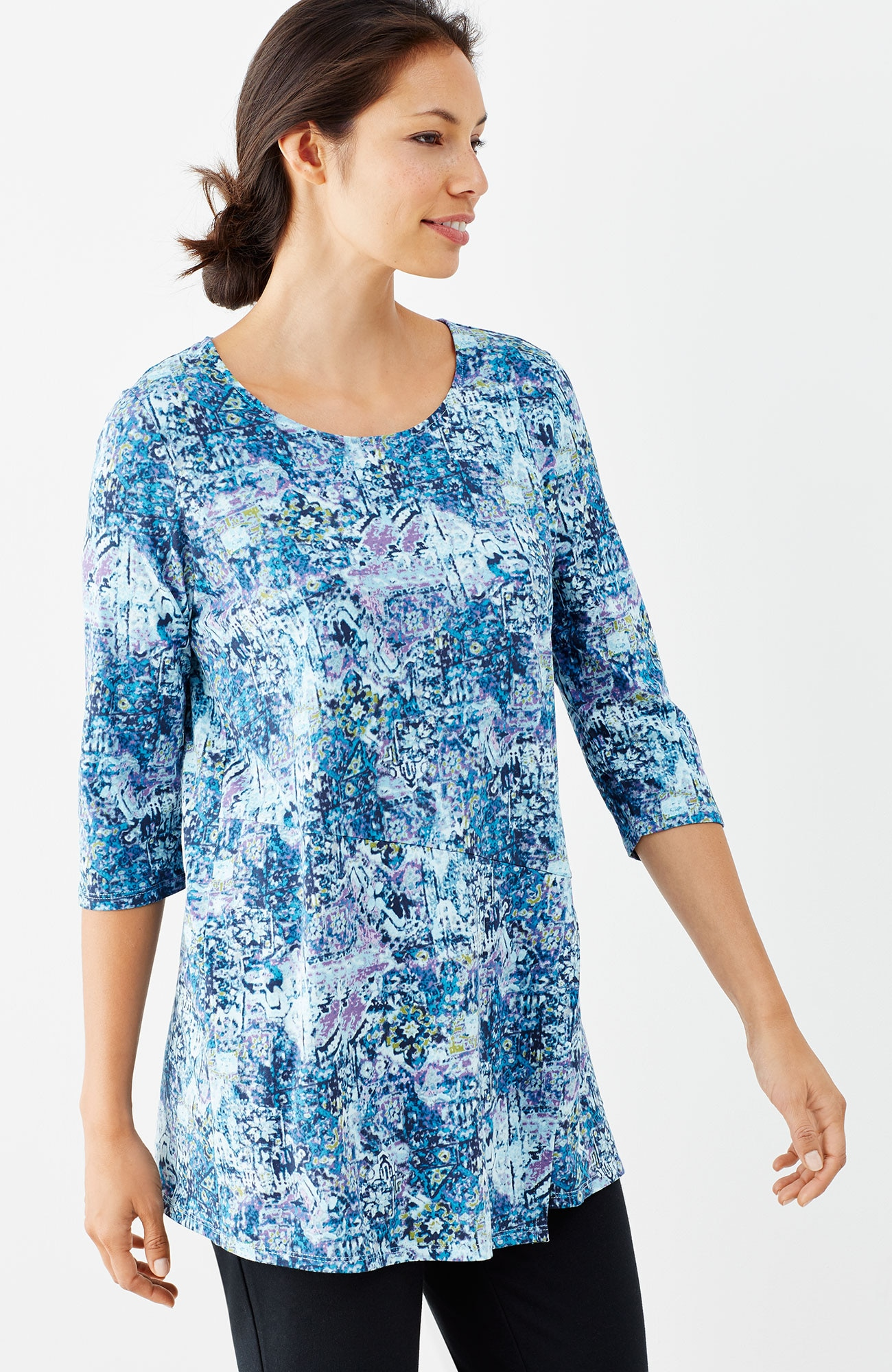Pure Jill printed wrap tunic