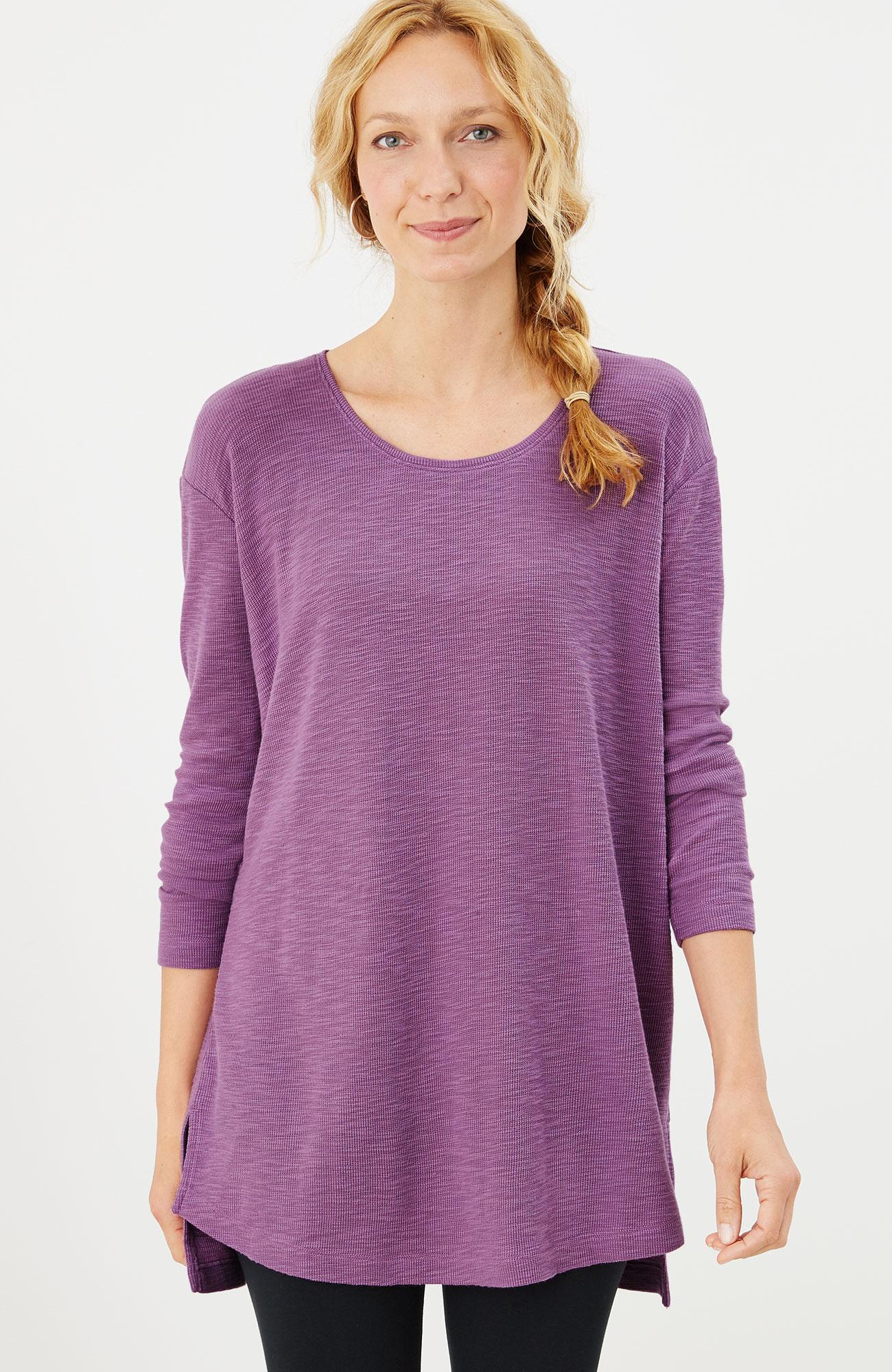 waffle-knit tunic