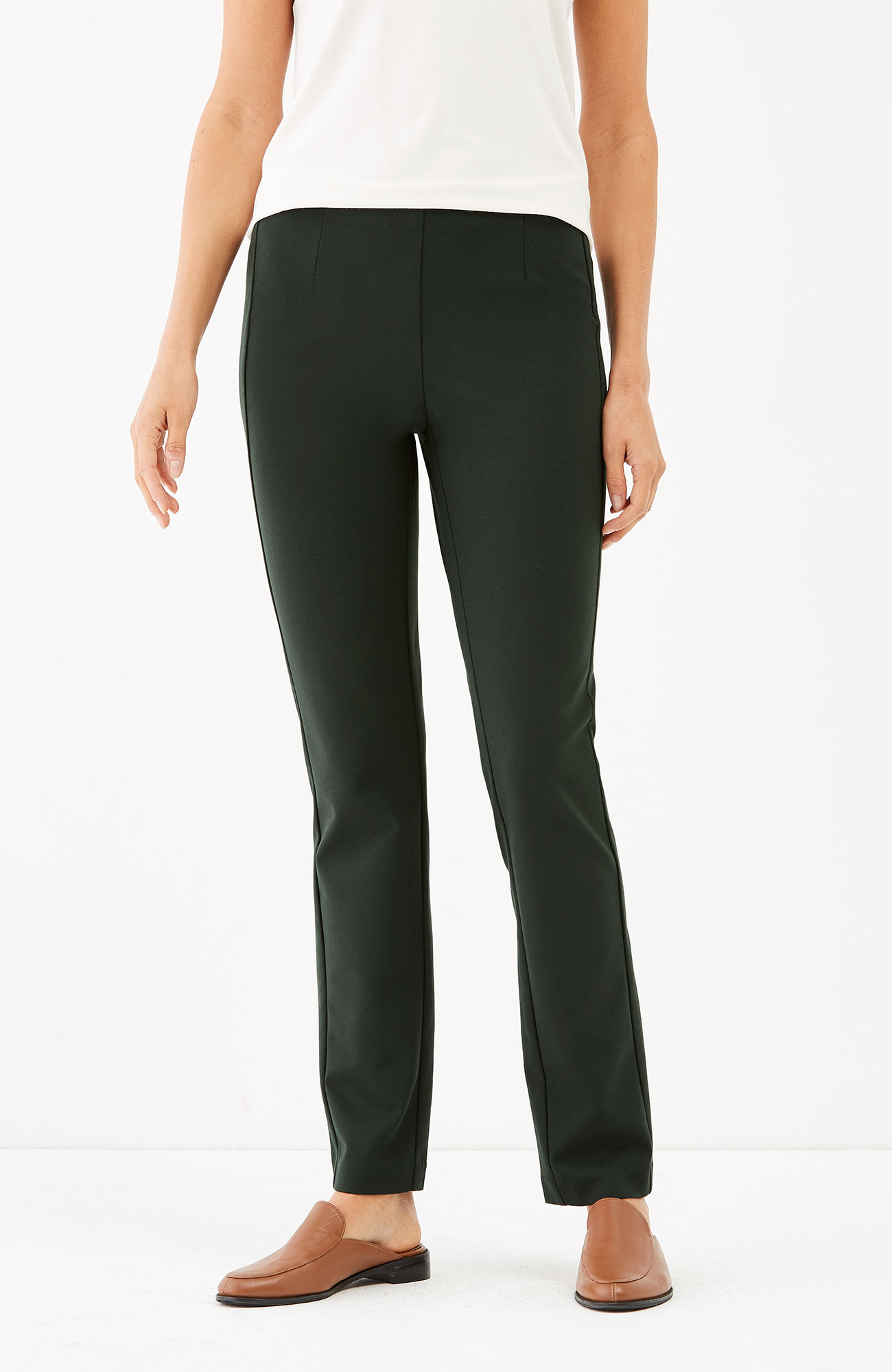 ponte knit slim-leg pants