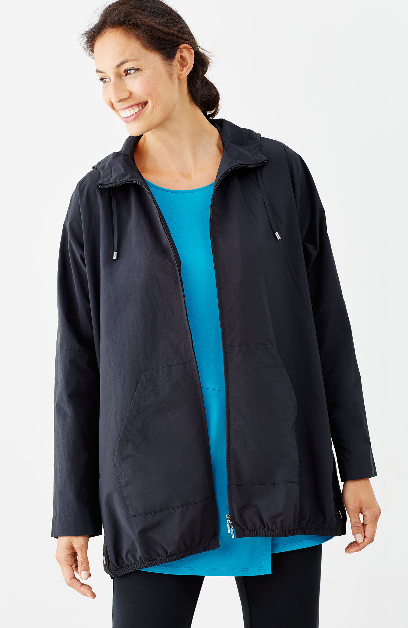 Pure Jill hooded windbreaker