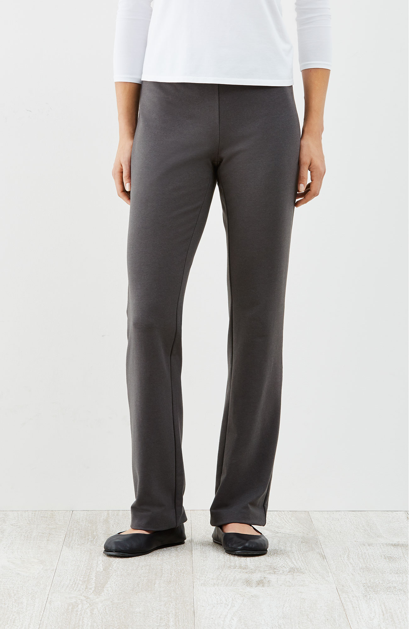 Pure Jill barely boot-cut pants