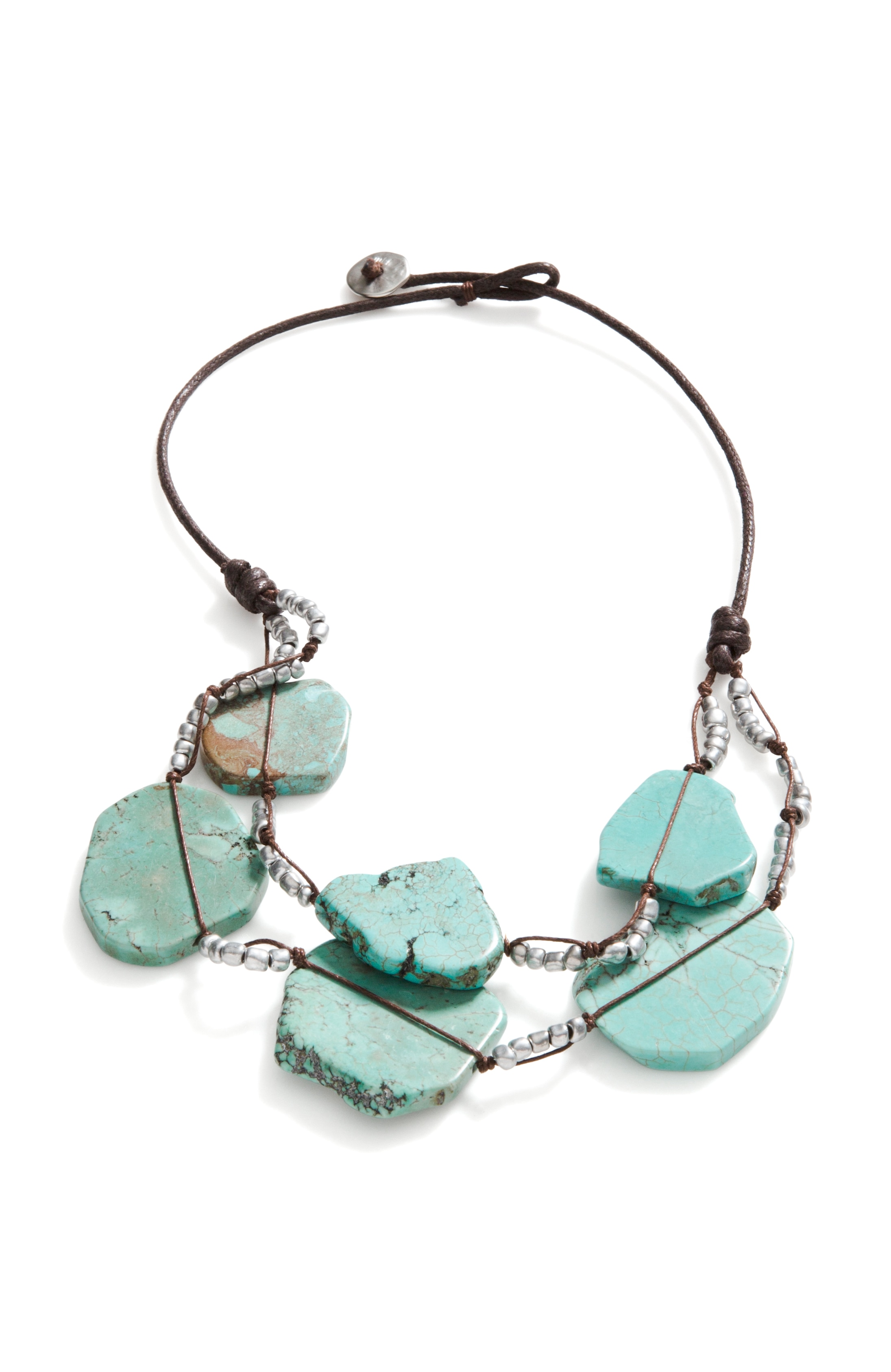 seacoast semiprecious layered necklace
