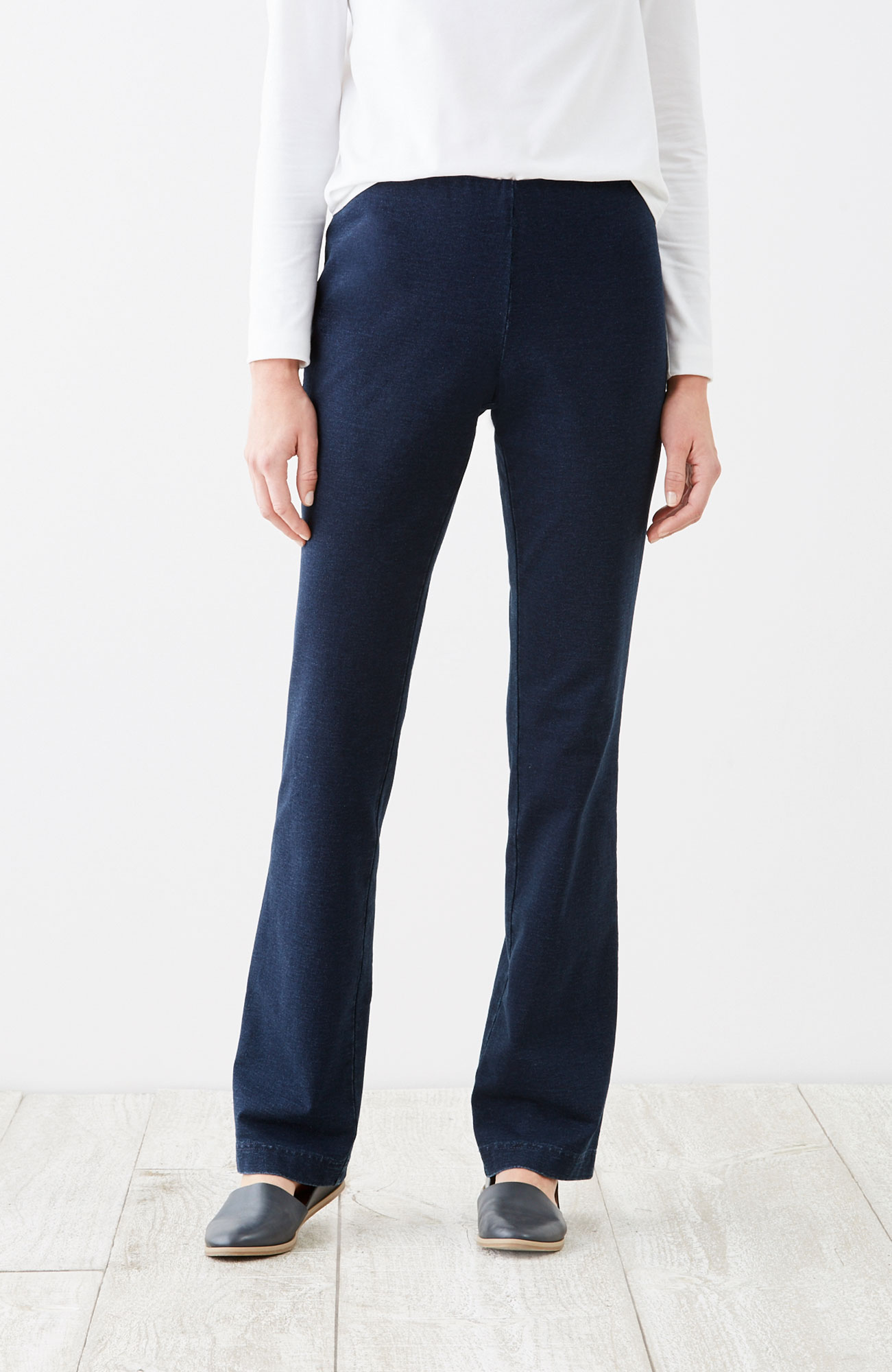 Pure Jill barely boot-cut indigo pants