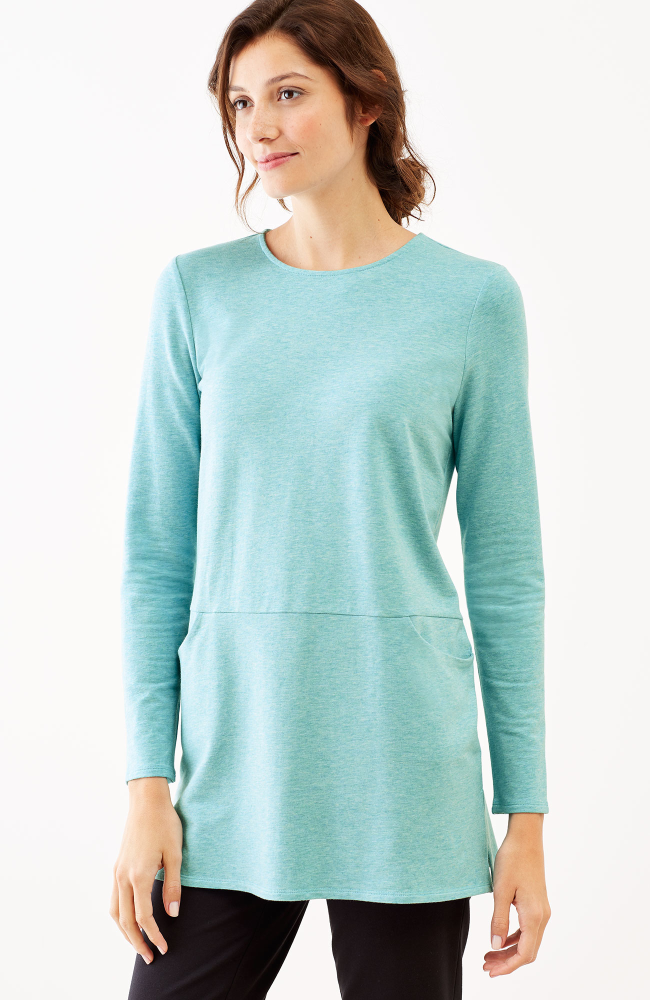 Pure Jill seamed two-pocket tunic