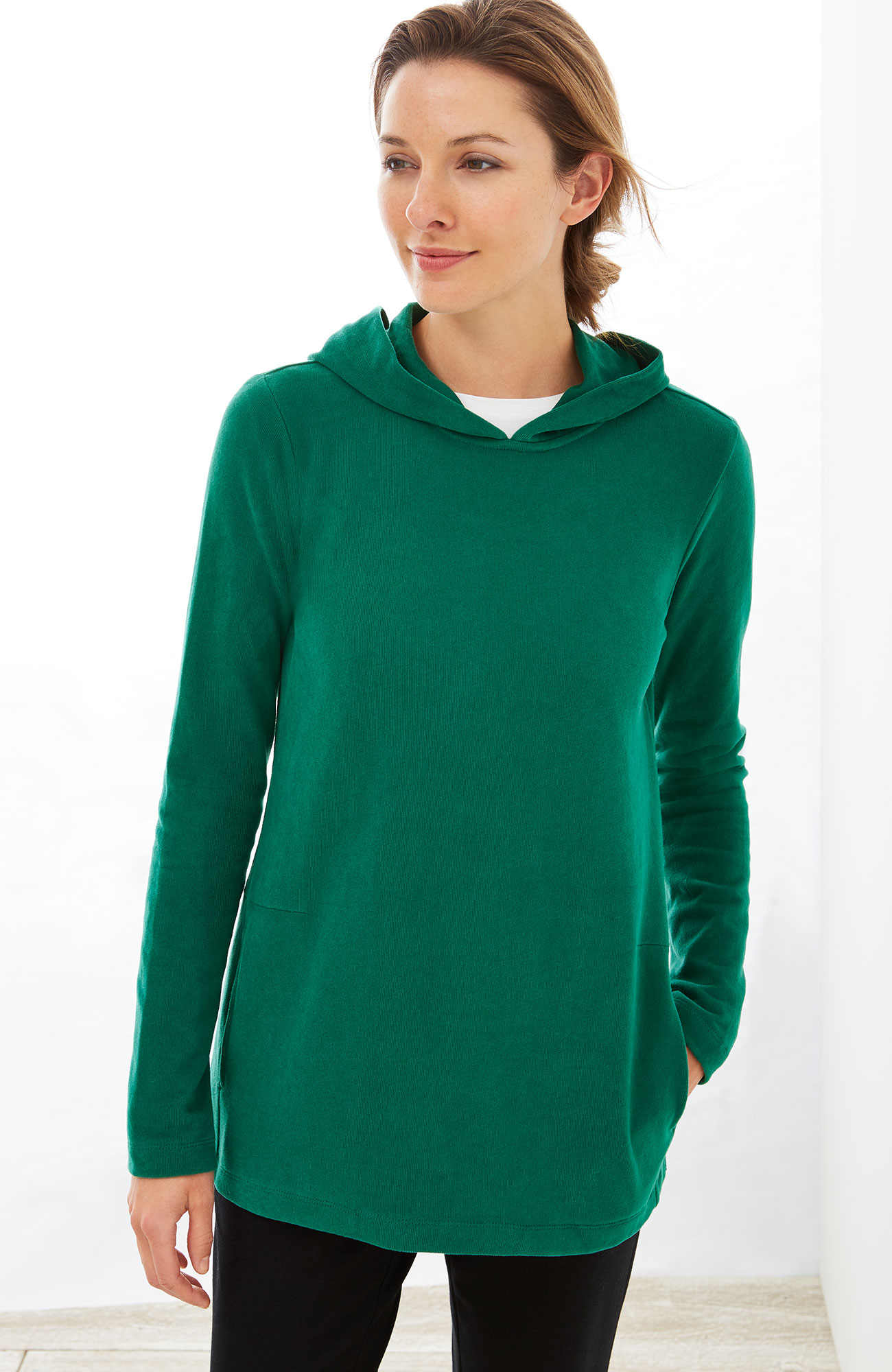 Pure Jill soft-touch cotton hoodie