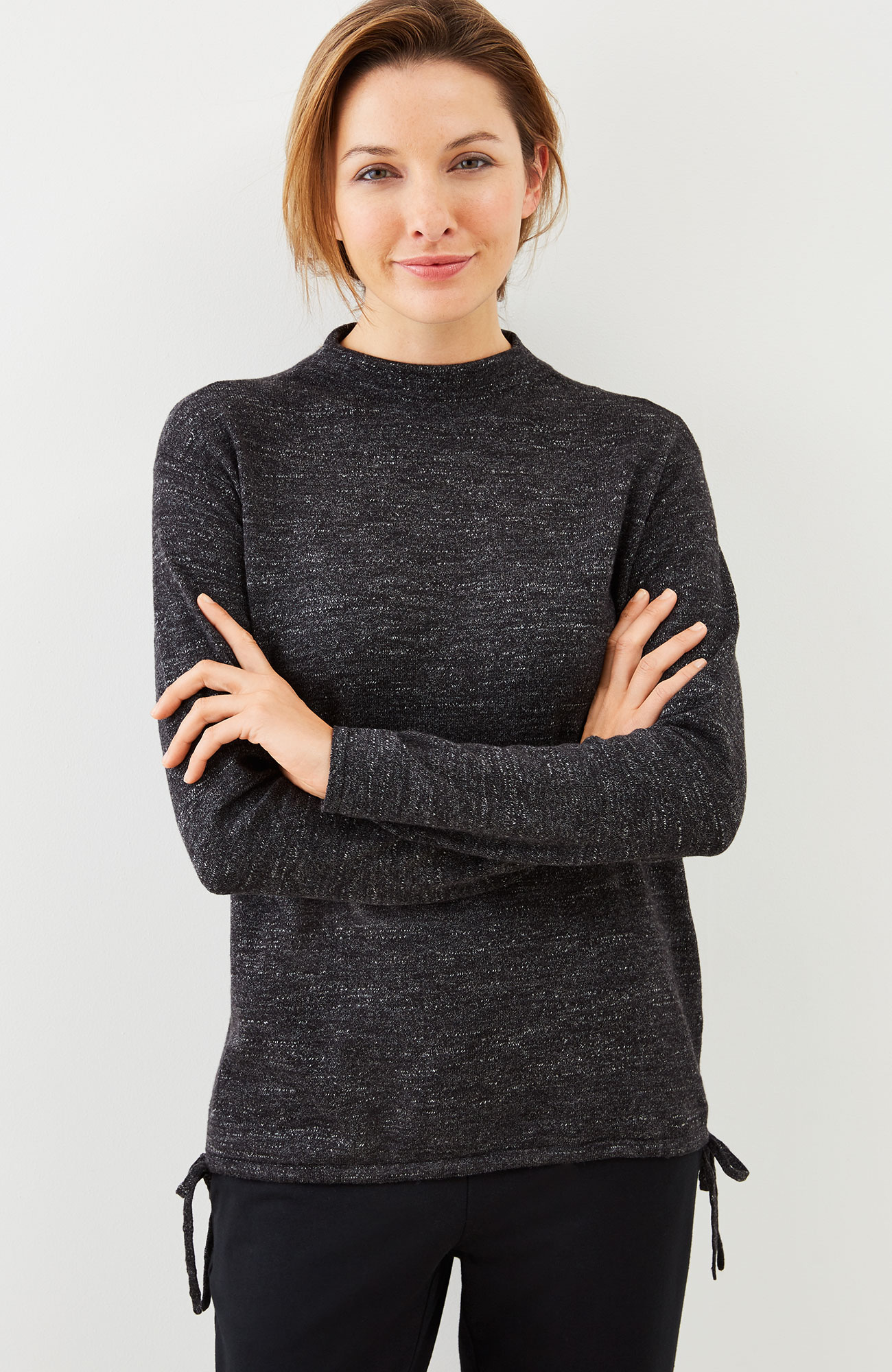 Pure Jill ultrasoft side-tie sweater