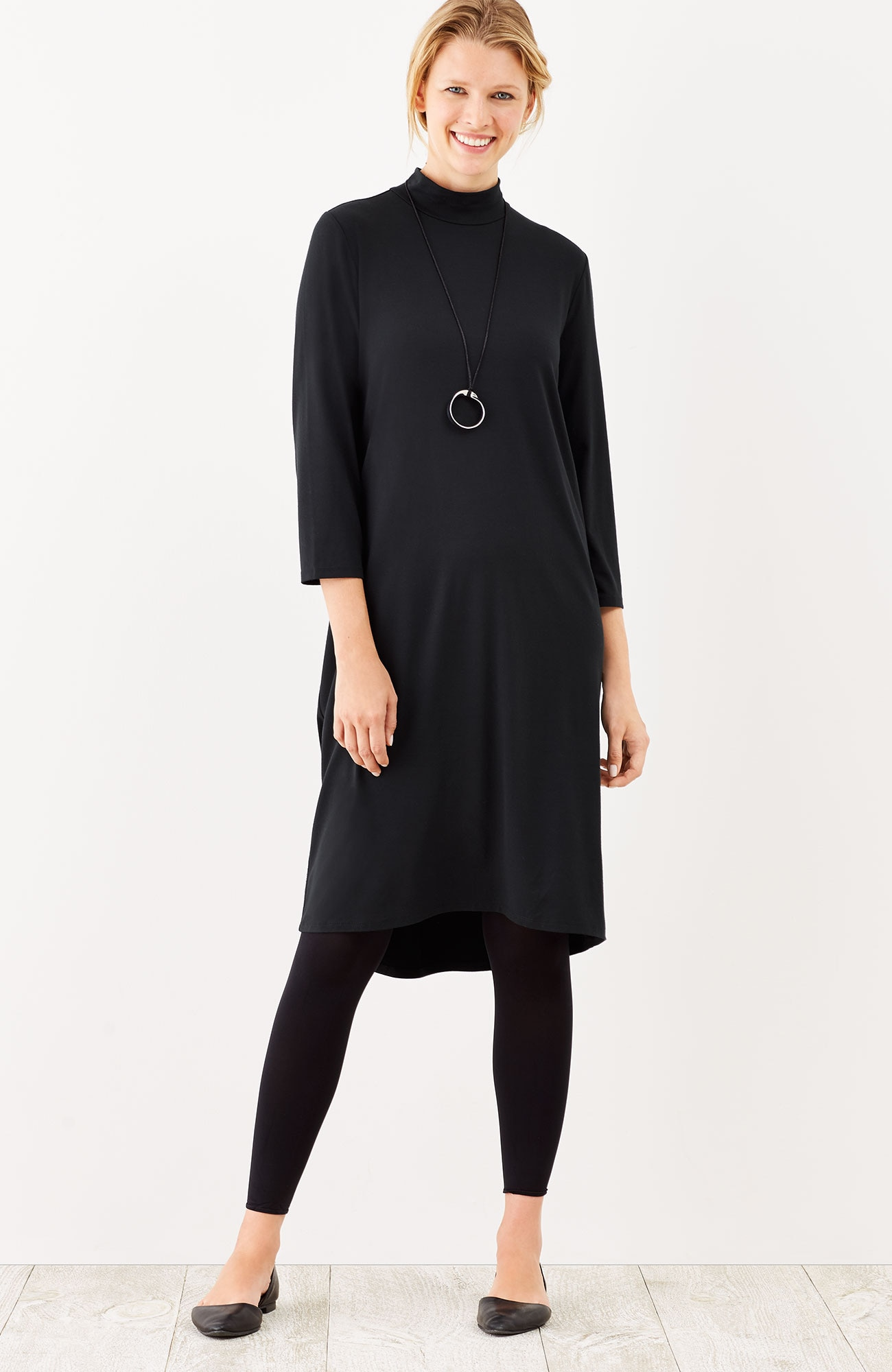 Wearever mock-neck elliptical dress