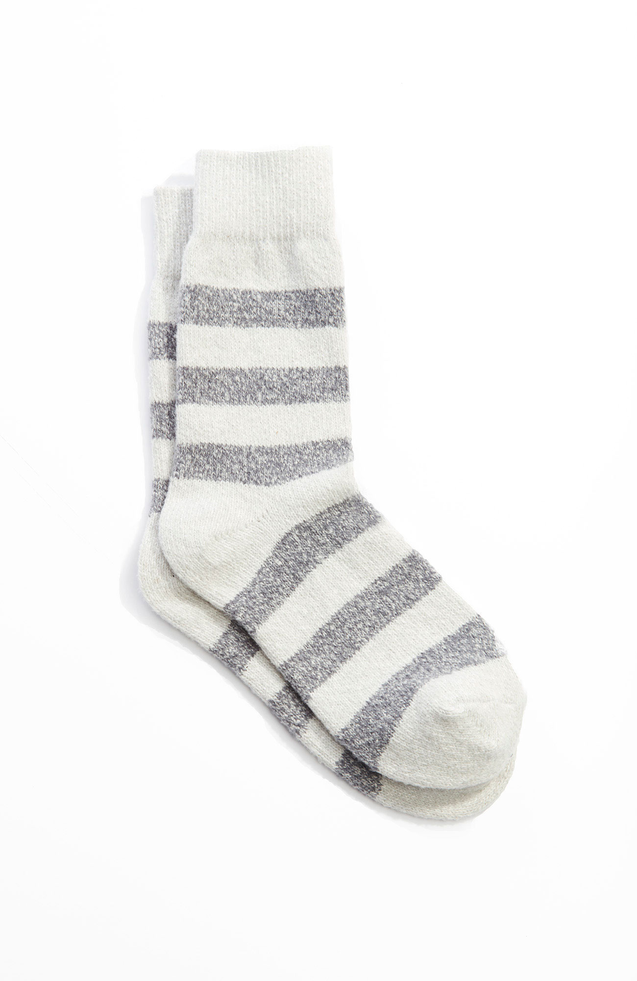 supersoft striped crew socks