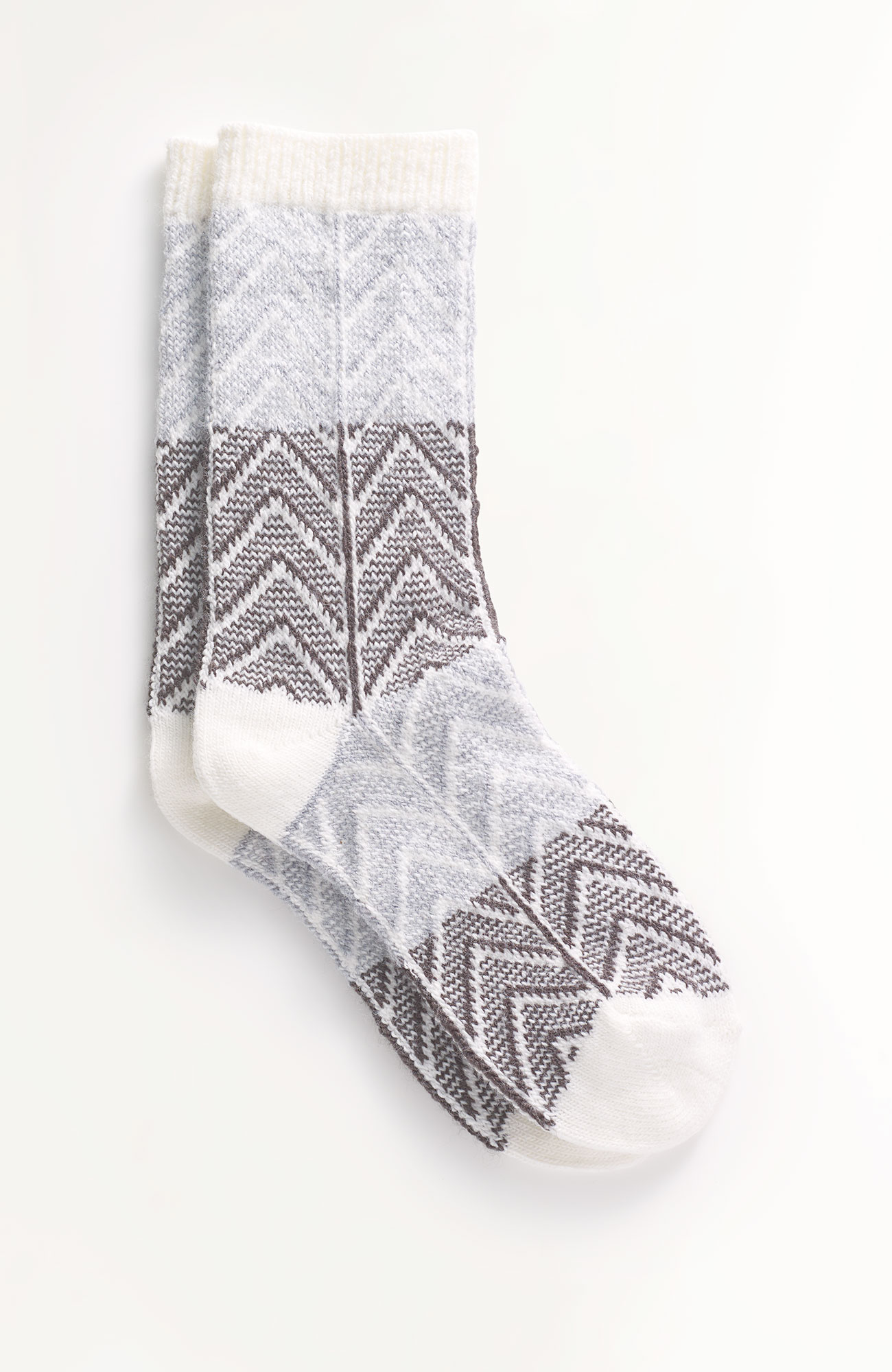 chevron crew socks