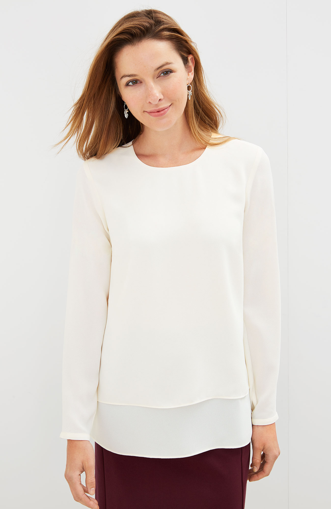 layered long-sleeve top