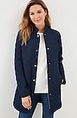 diamond-quilted zip-front jacket