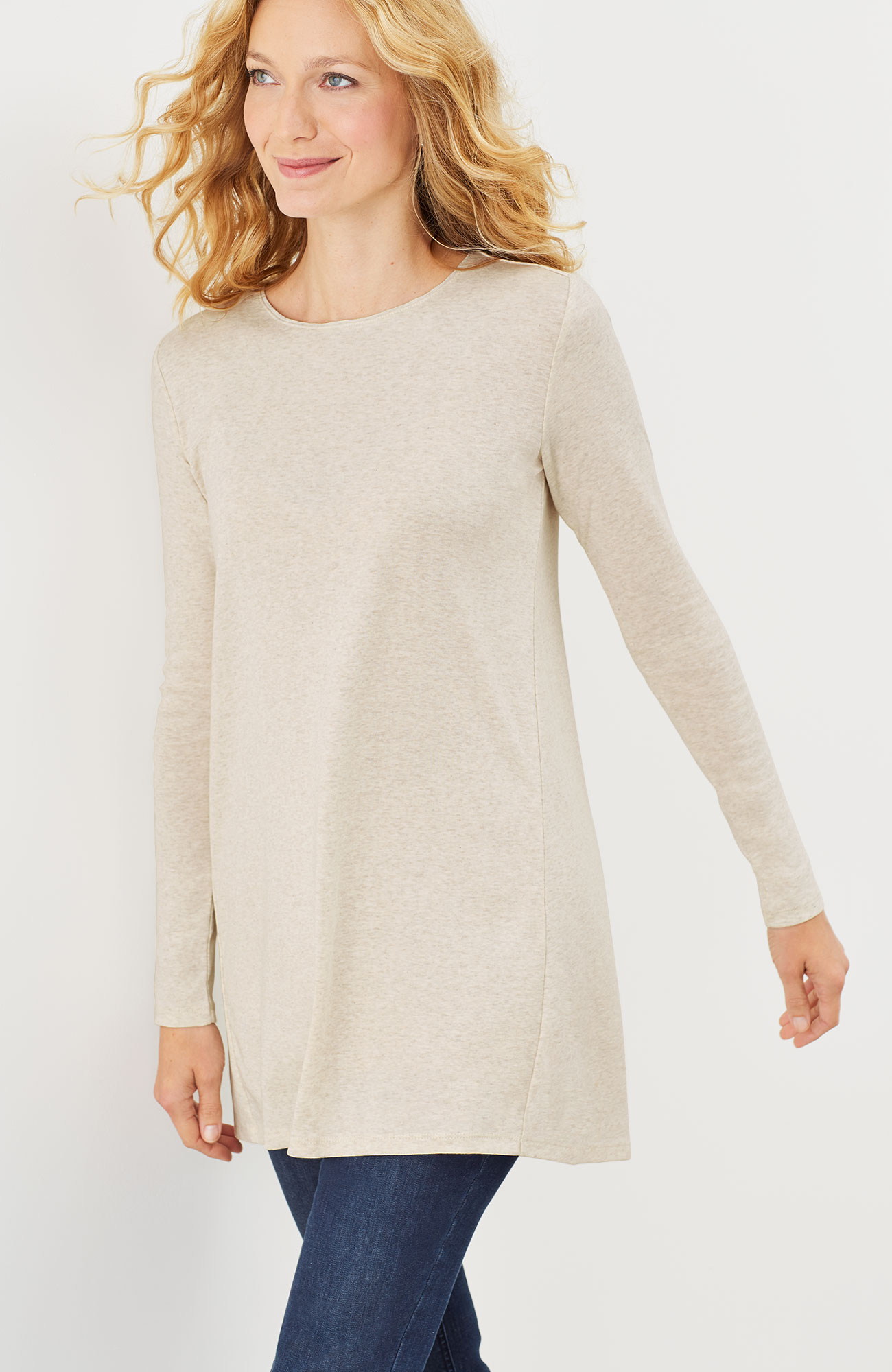 perfect pima delicate trim tunic
