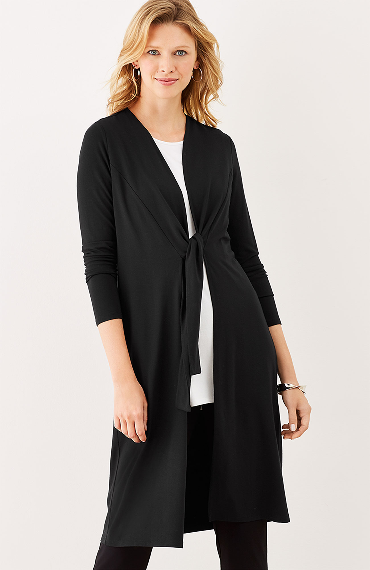 Wearever tie-front jacket
