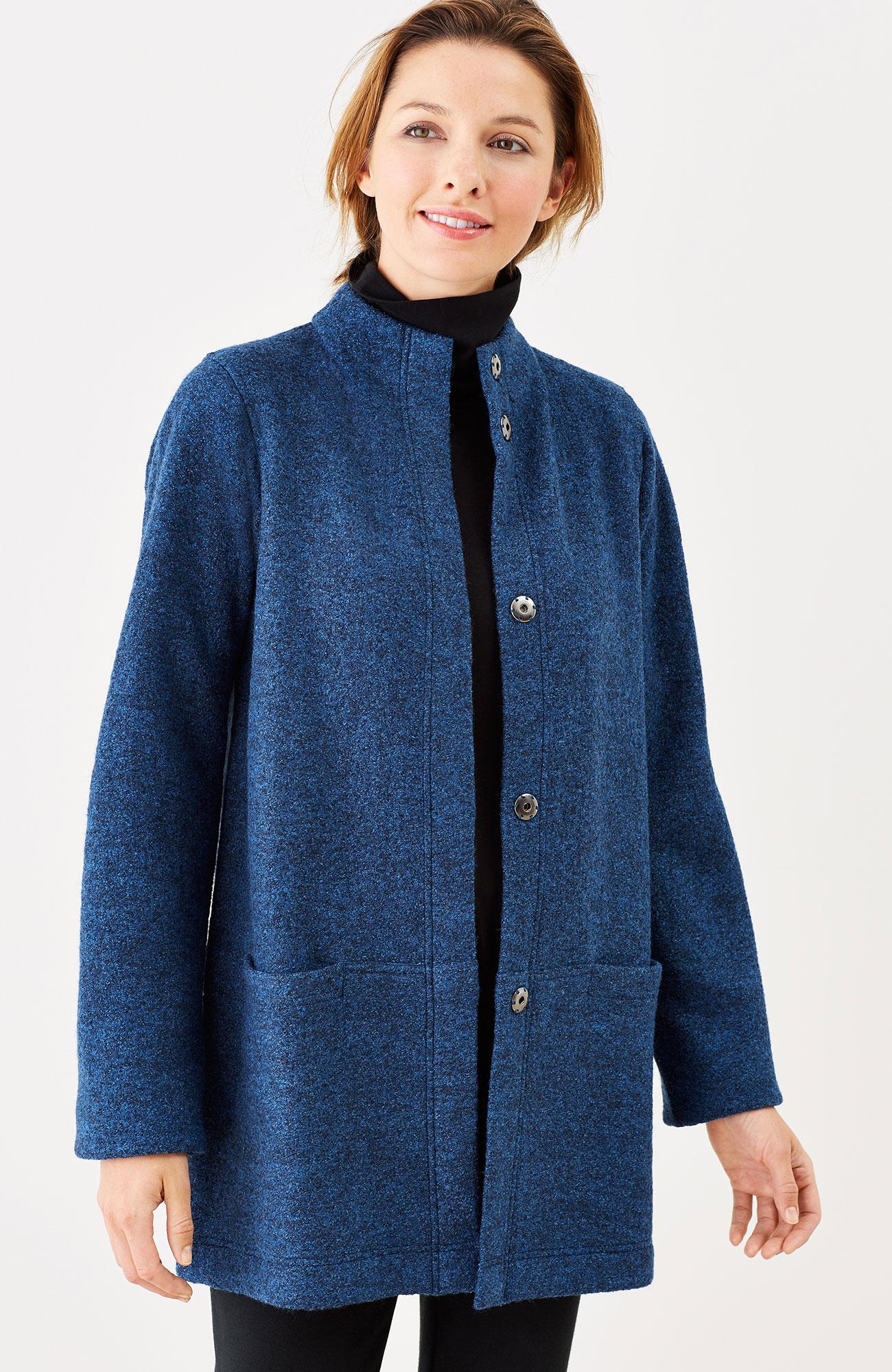 Pure Jill textured marled coat