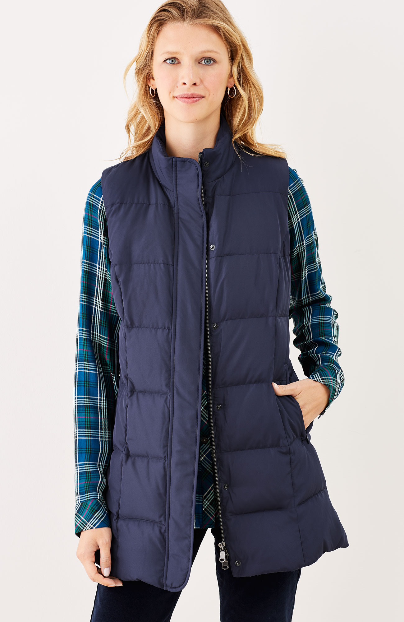 Highland Park long down puffer vest