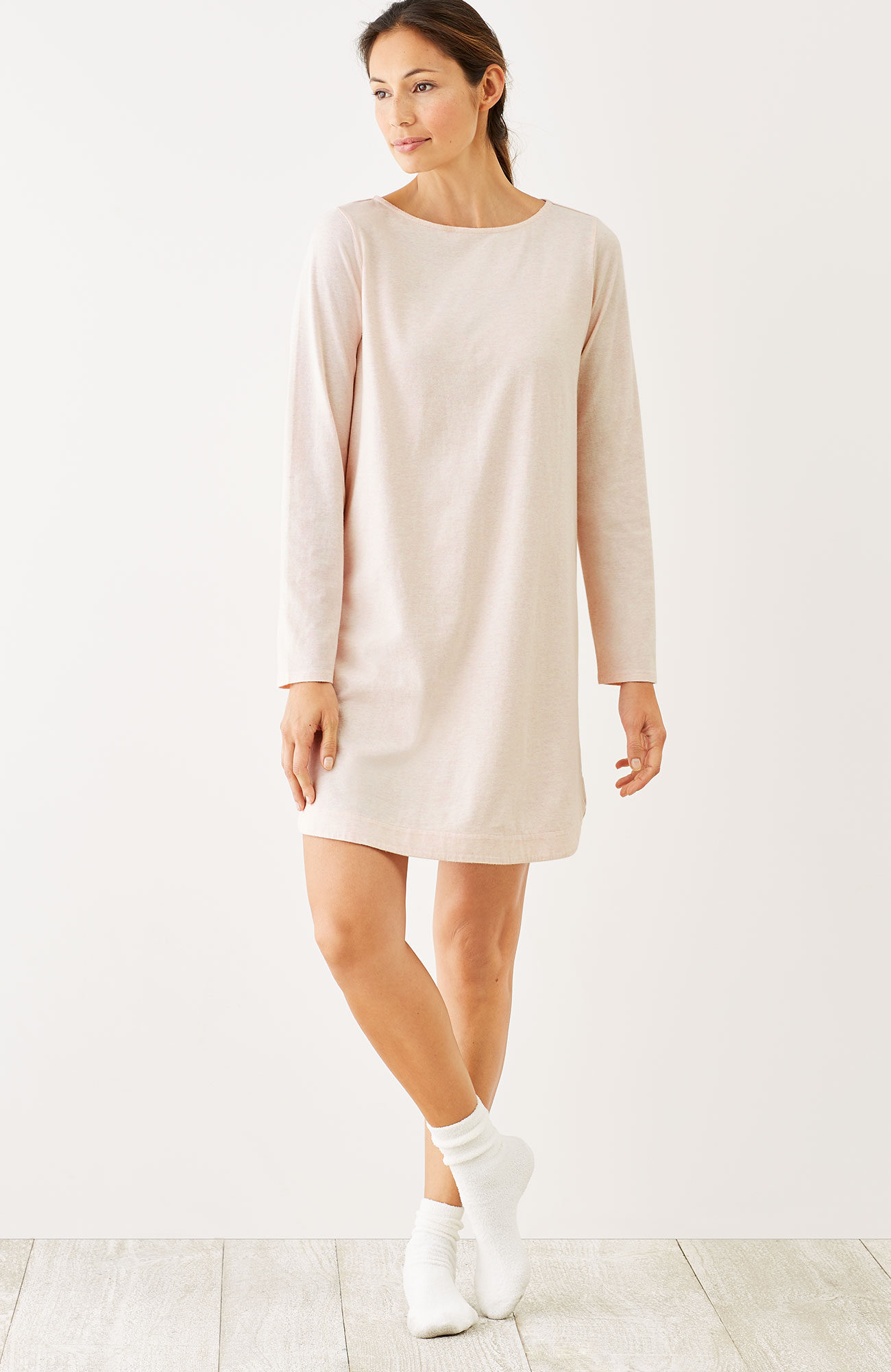 Pure Jill Sleep brushed nightshirt