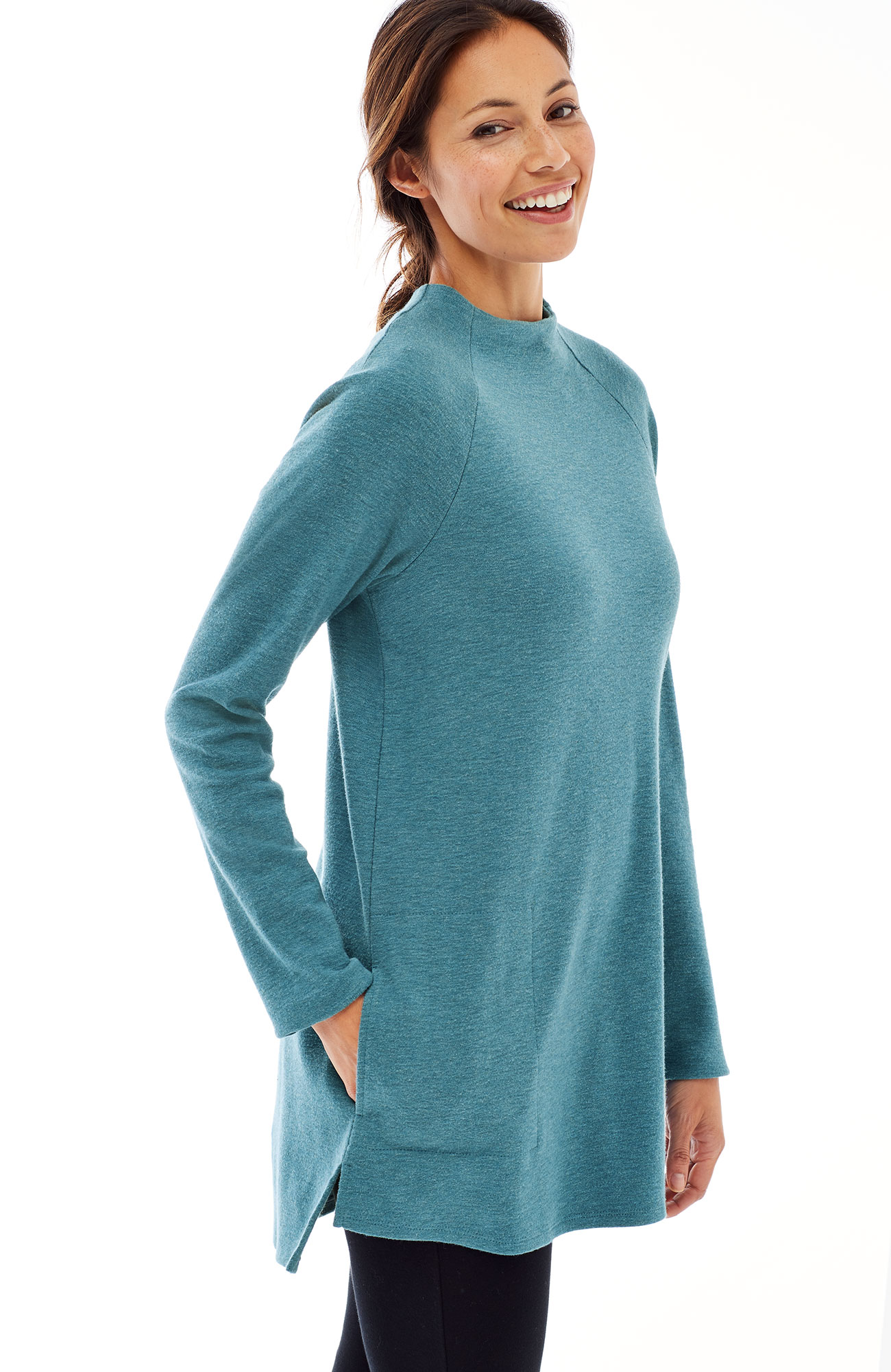 Pure Jill sueded-cotton A-line tunic