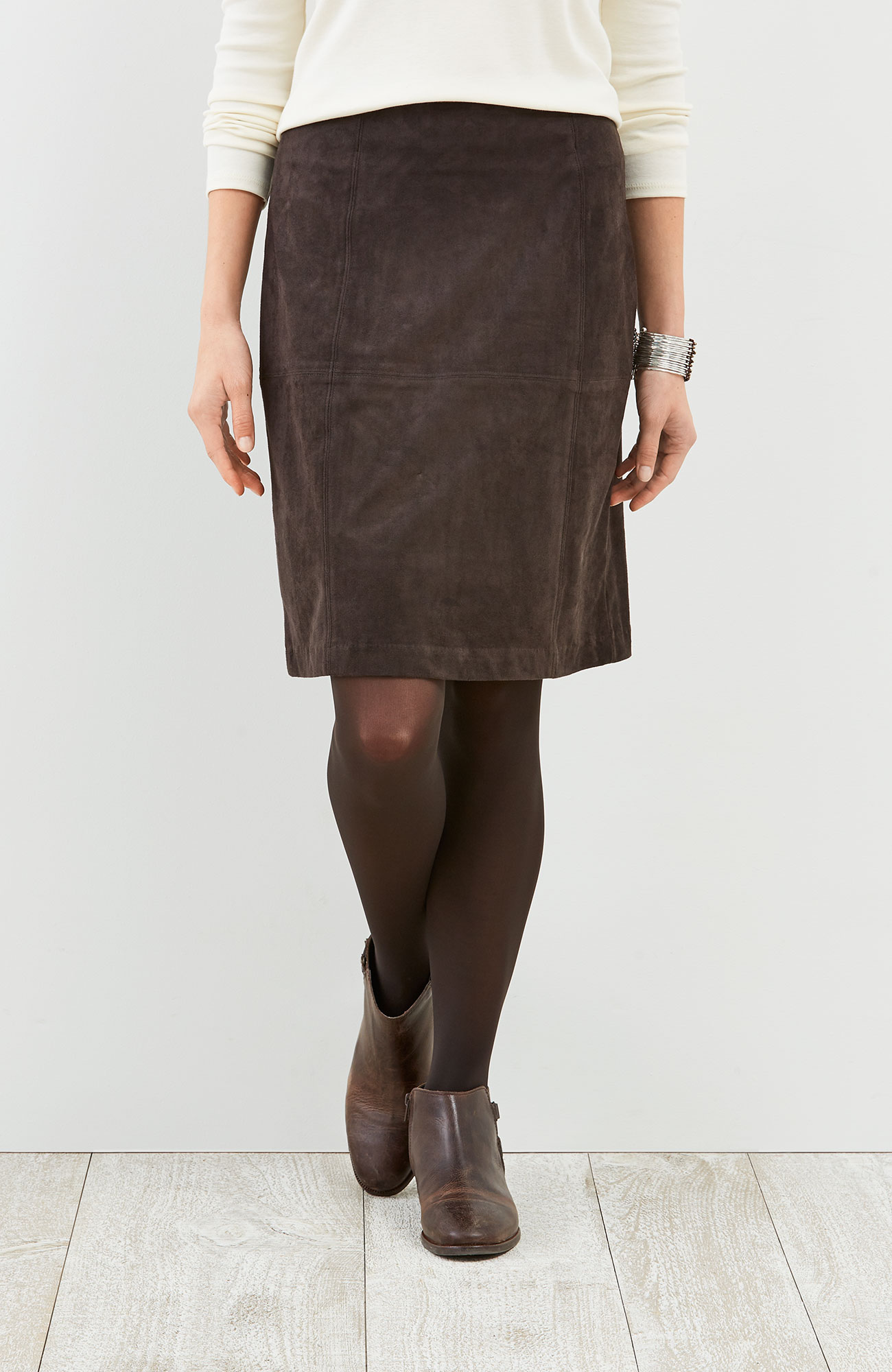 sueded skirt
