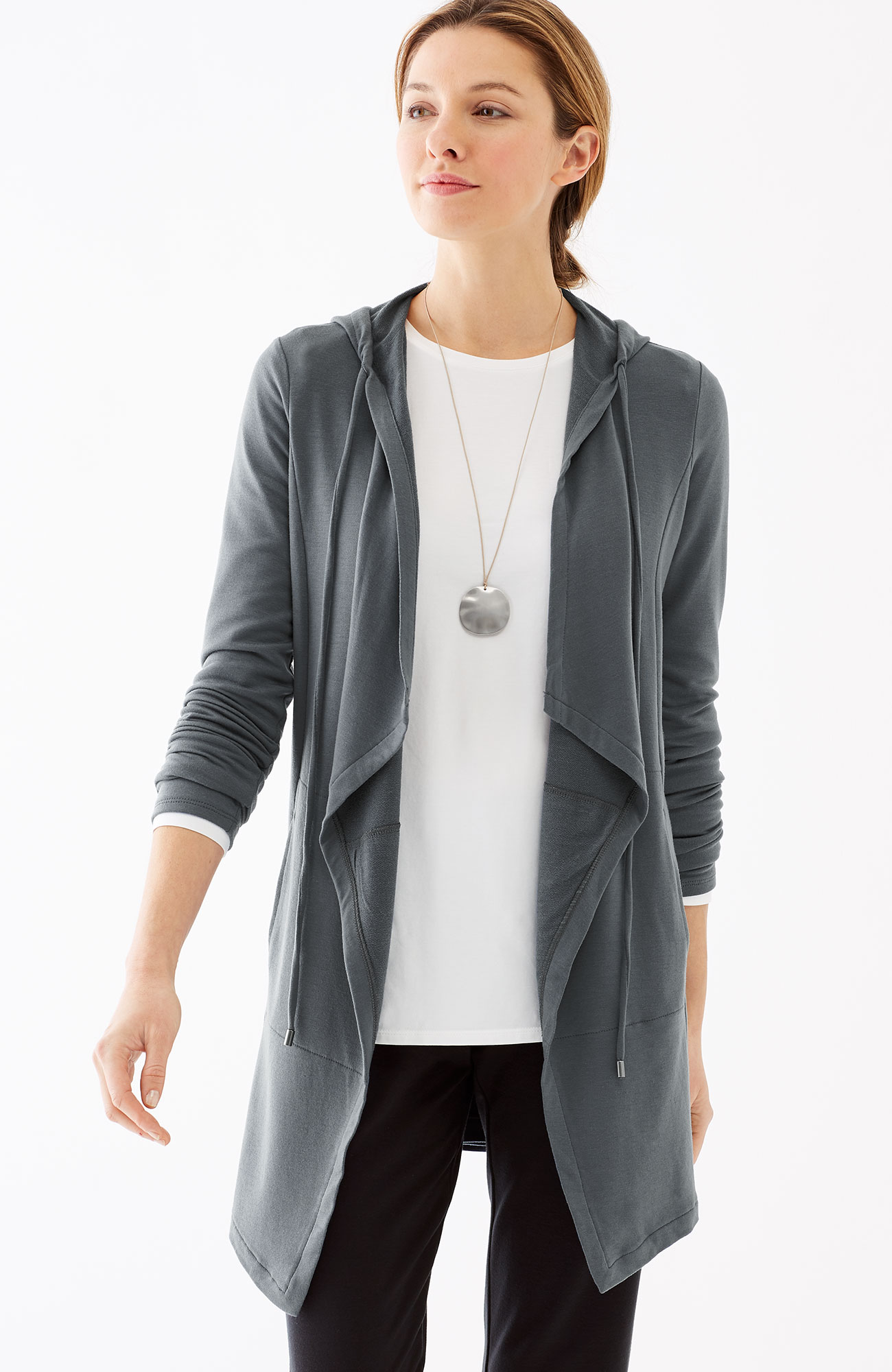 Pure Jill Luxe Tencel® hooded jacket