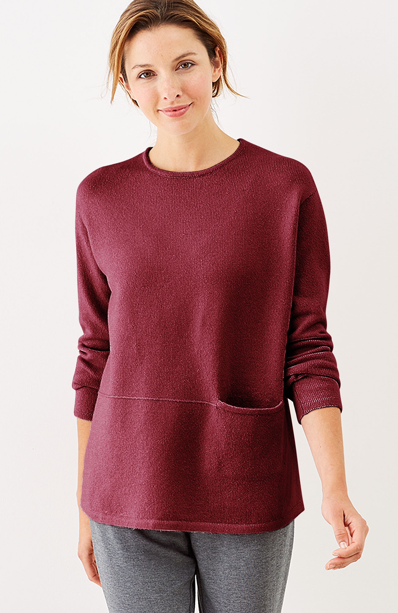 Pure Jill seamed crew-neck pullover