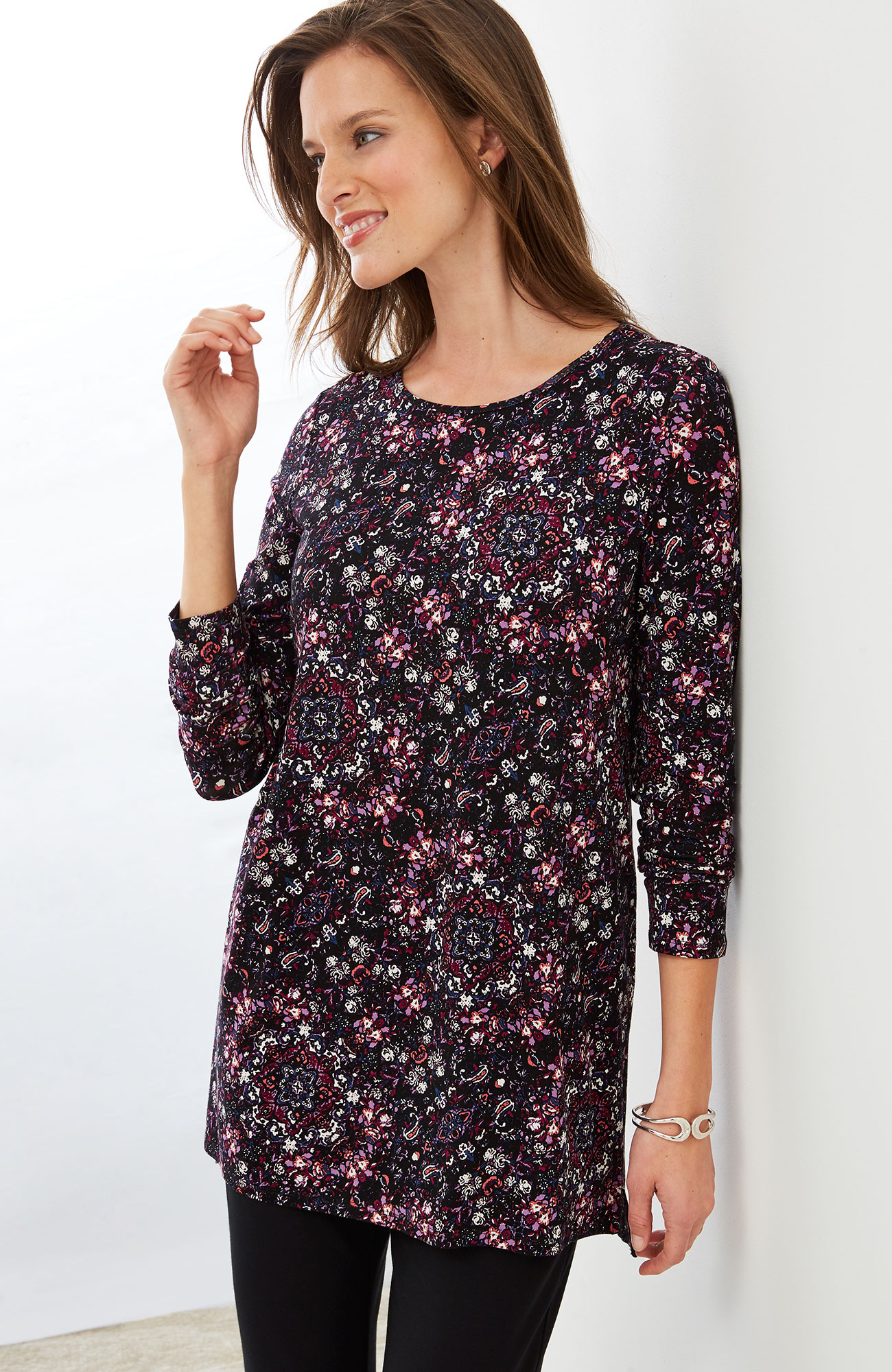 Wearever long-sleeve print tunic